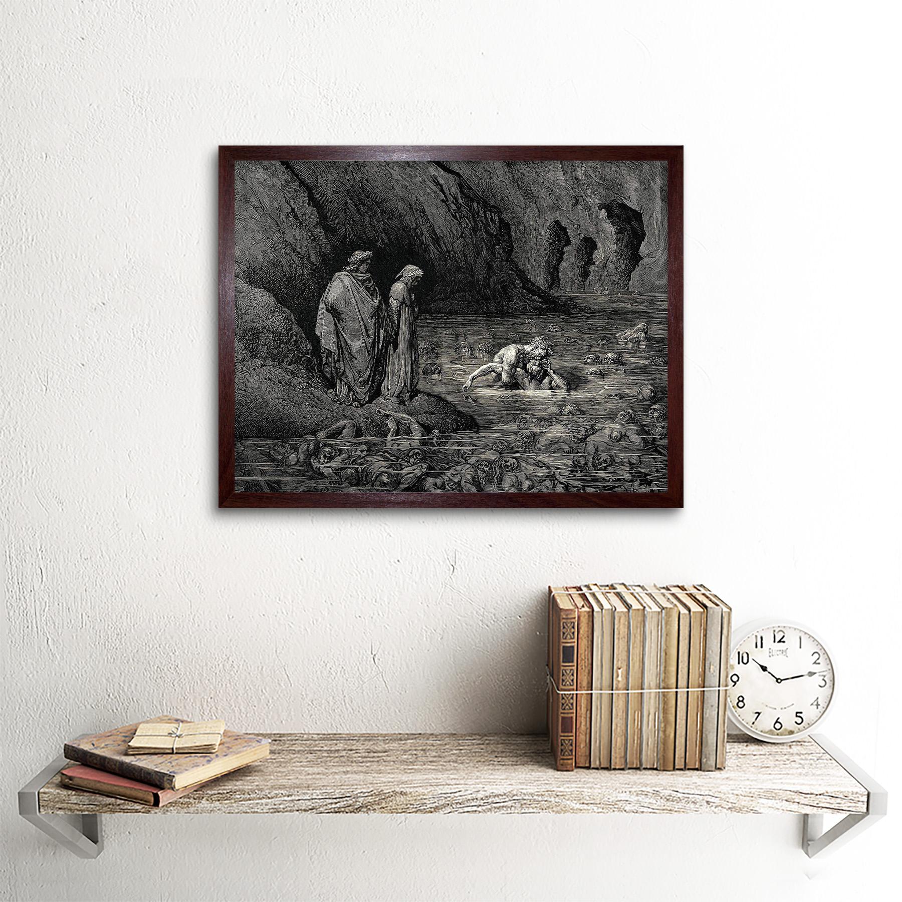 DORE INFERNO CANTO 12 DANTE OLD MASTER FRAMED ART PRINT MOUNT B12X300