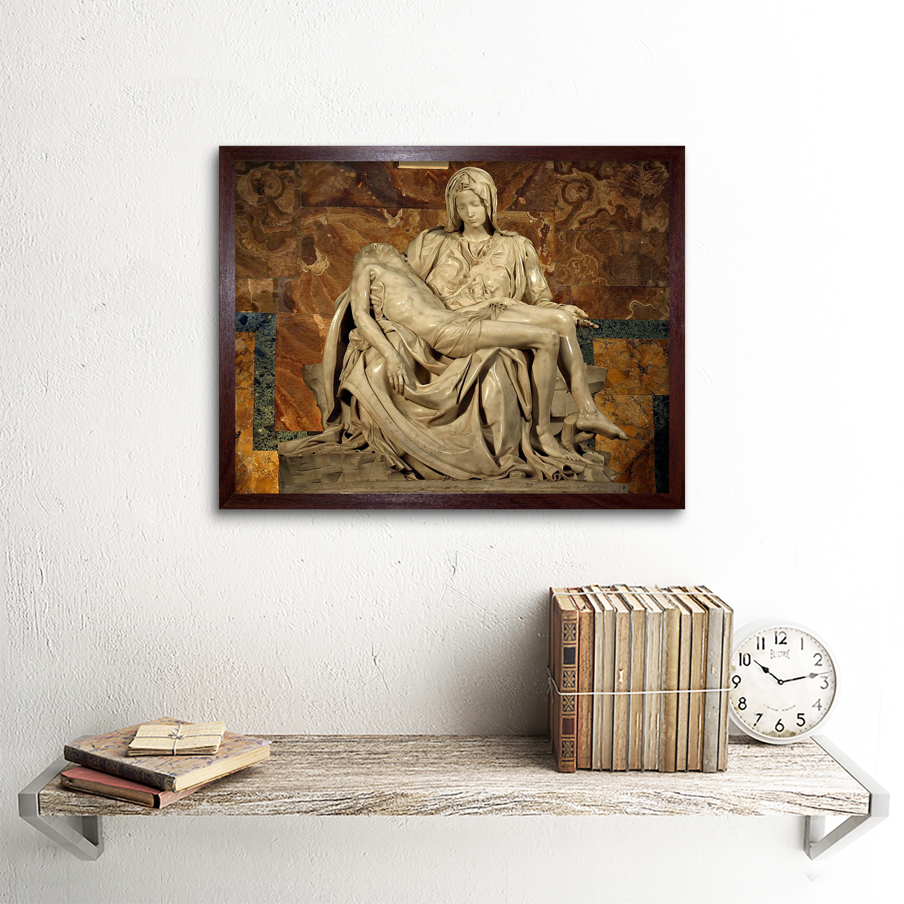 MICHELANGELO PIETA 1499 OLD MASTER PAINTING PRINT POSTER 1987OMLV