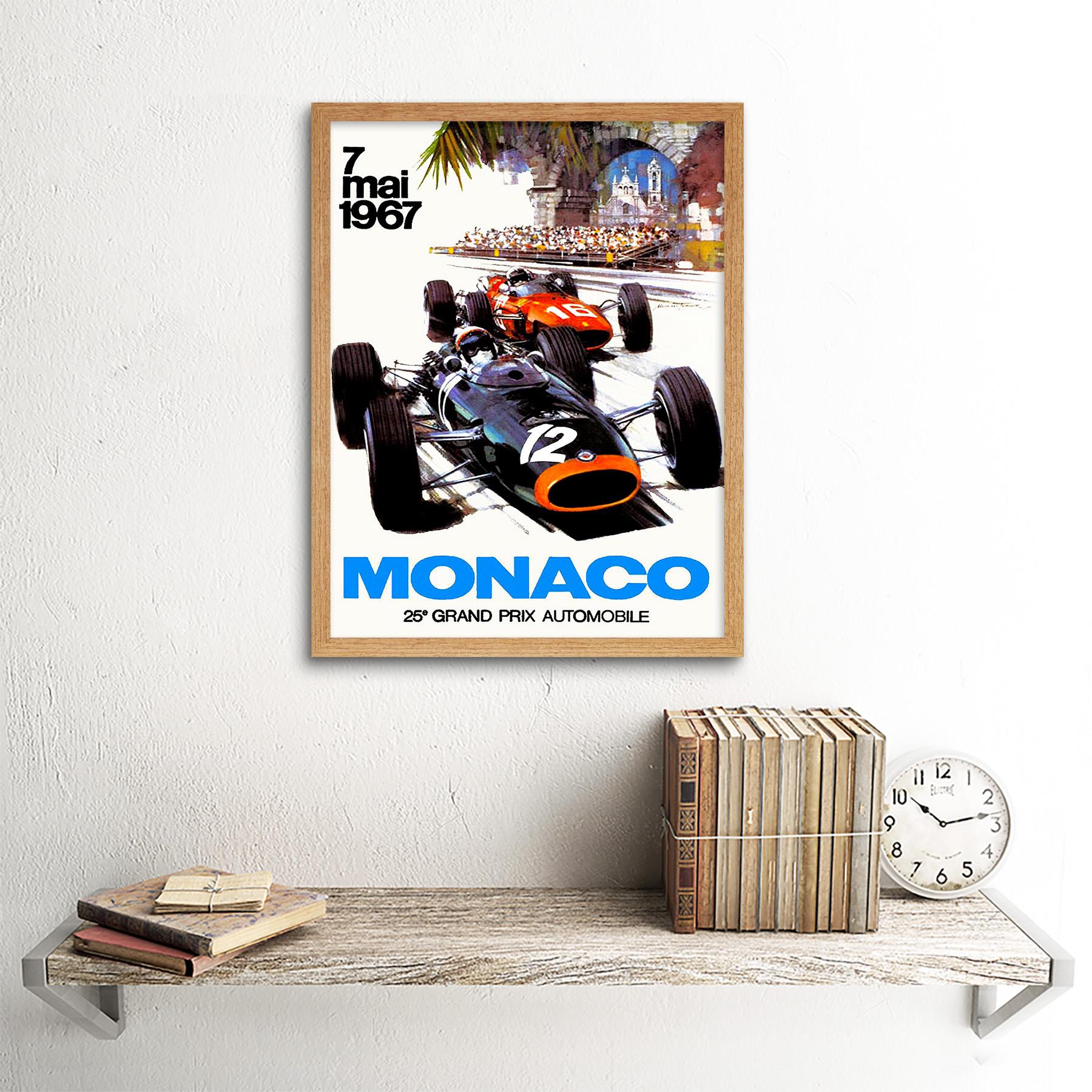 Vintage-Transport-Monaco-25-Grand-Prix-Automobile-1967-Race-12X16-Framed-Print thumbnail 13