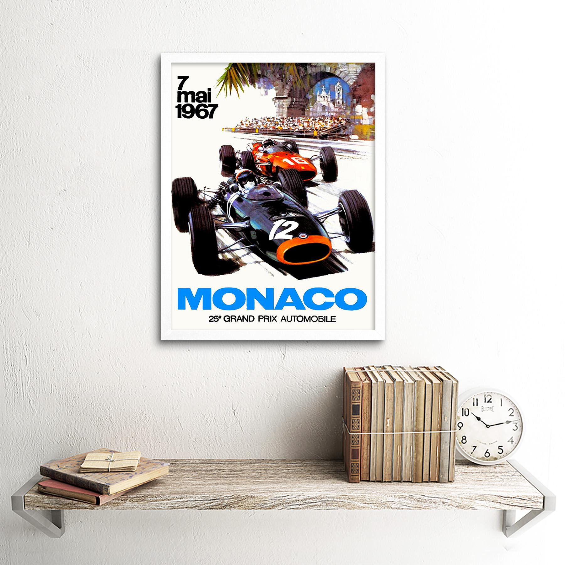 Vintage-Transport-Monaco-25-Grand-Prix-Automobile-1967-Race-12X16-Framed-Print thumbnail 18