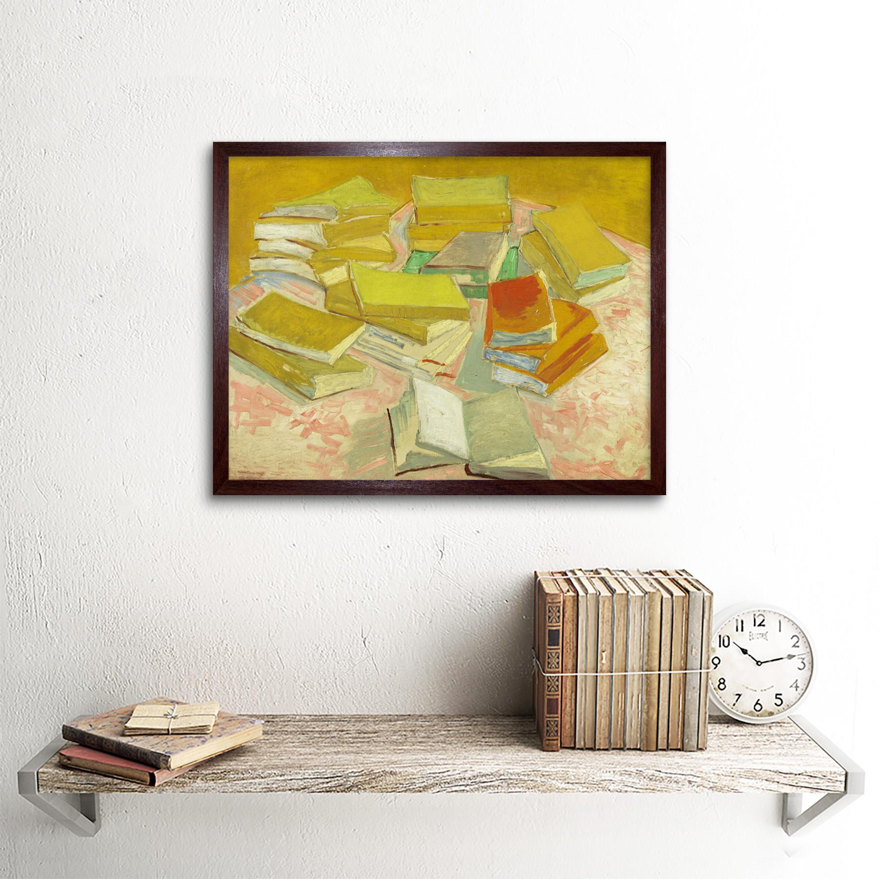 thumbnail 8 - Vincent-Van-Gogh-Piles-Of-French-Novels-Art-Print-Framed-12x16
