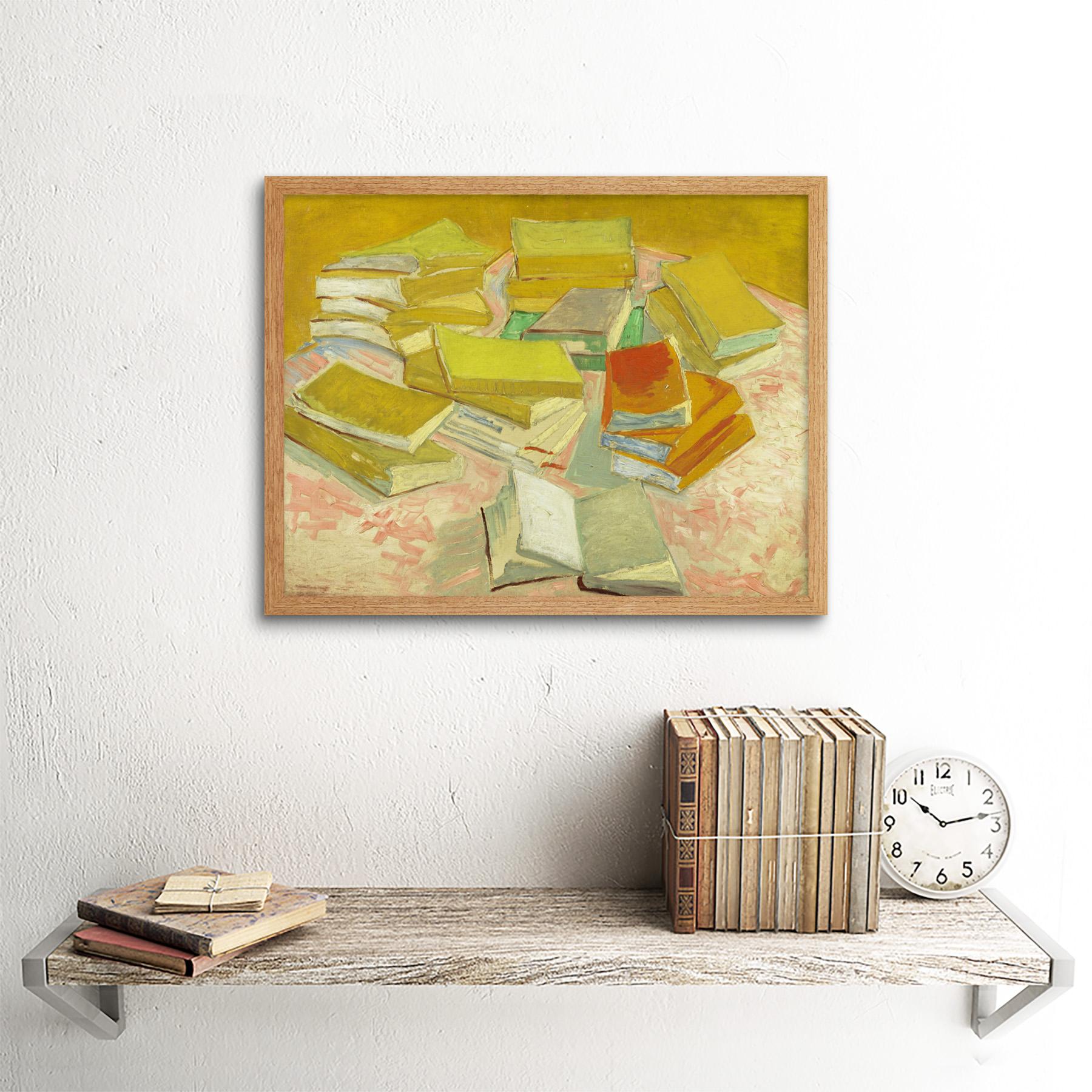 thumbnail 13 - Vincent-Van-Gogh-Piles-Of-French-Novels-Art-Print-Framed-12x16
