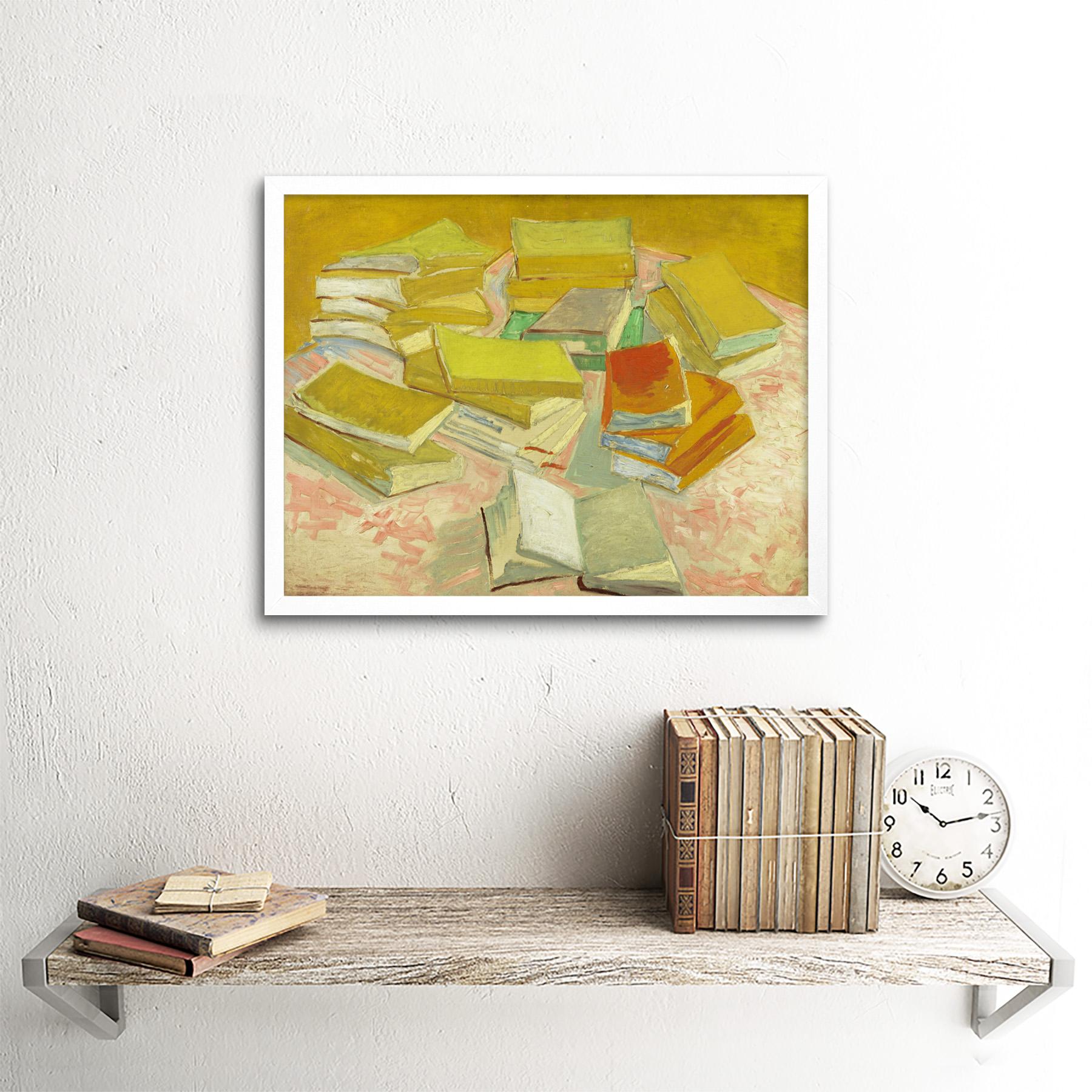 thumbnail 18 - Vincent-Van-Gogh-Piles-Of-French-Novels-Art-Print-Framed-12x16