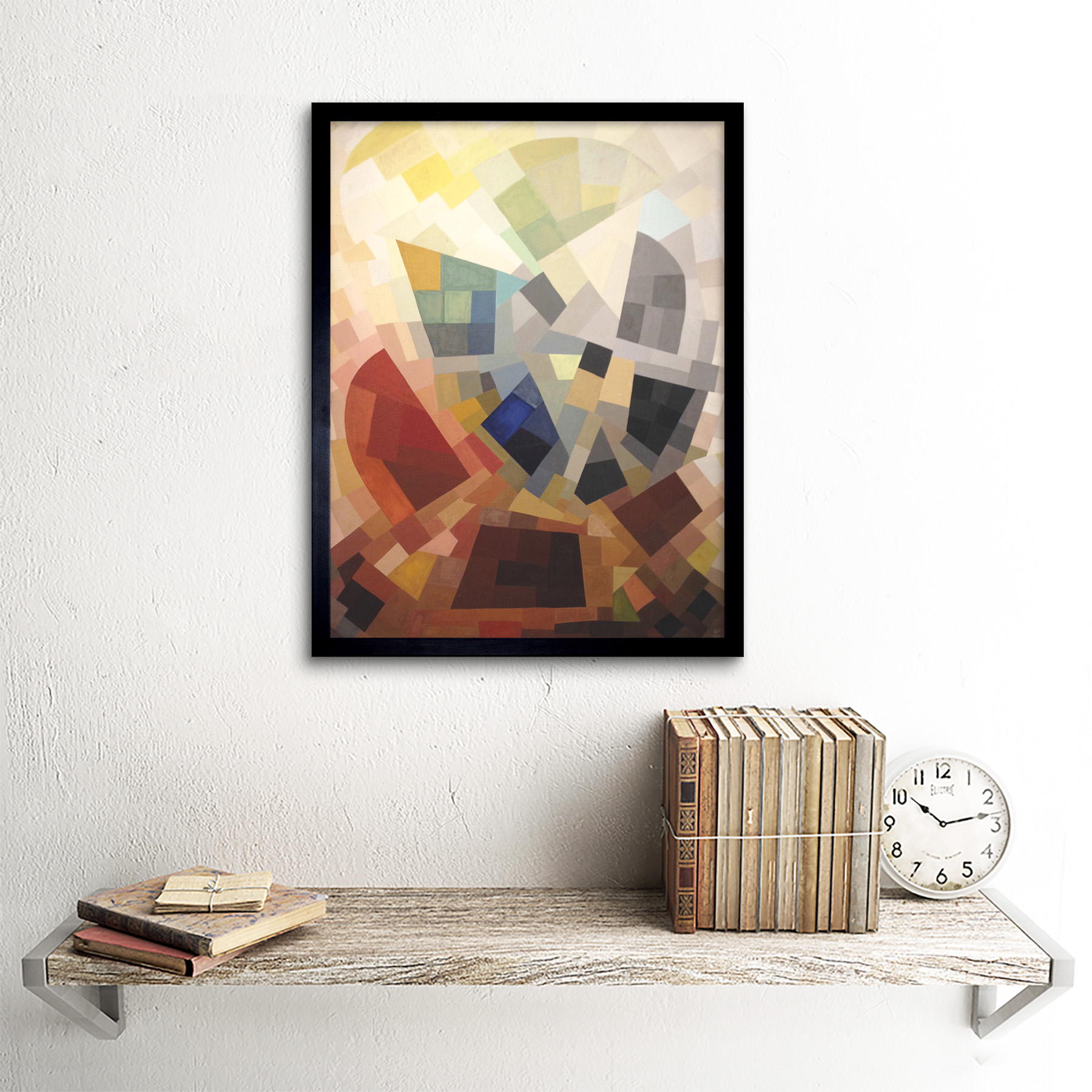 Freundlich-Abstract-Composition-Painting-Art-Print-Framed-12x16 thumbnail 3