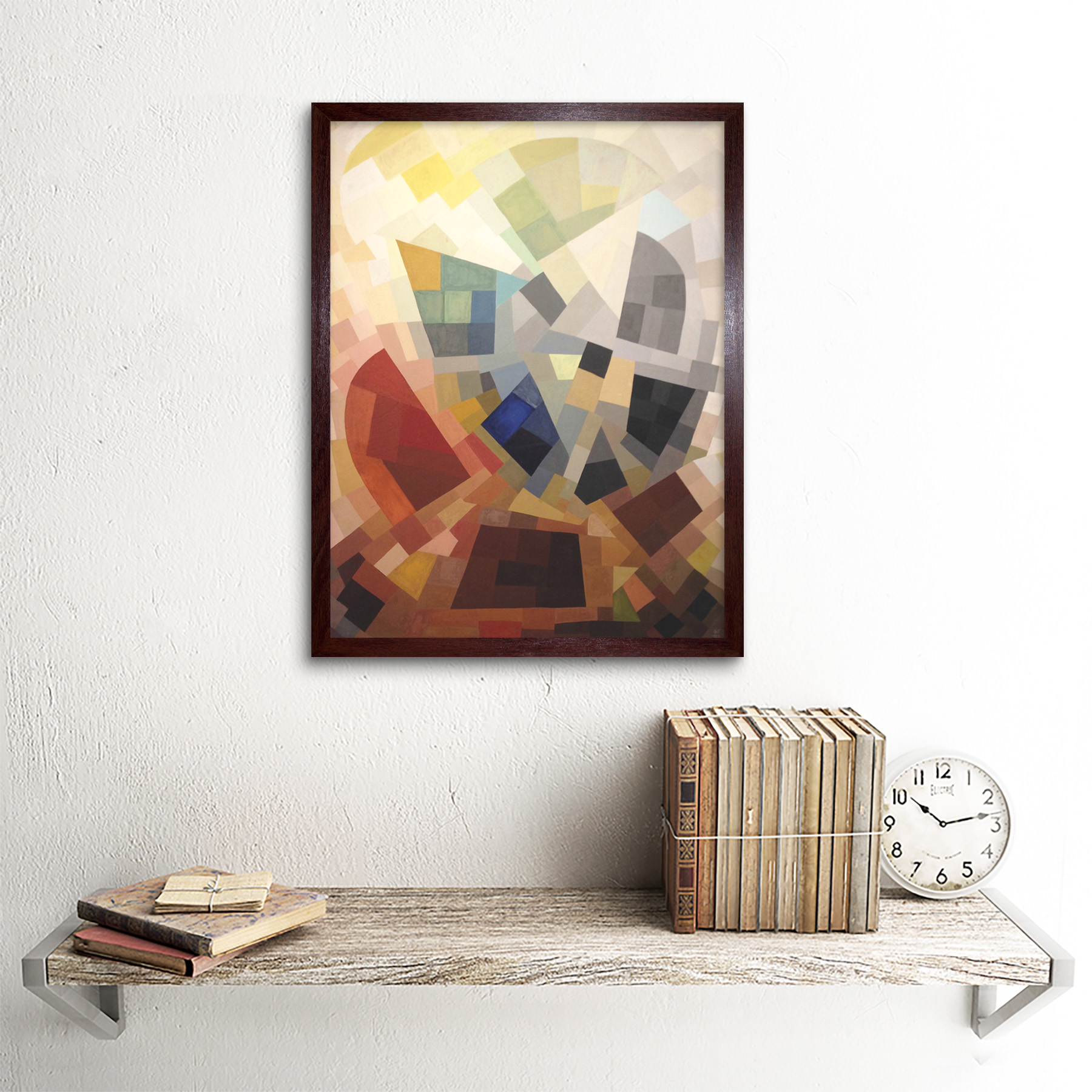 Freundlich-Abstract-Composition-Painting-Art-Print-Framed-12x16 thumbnail 8