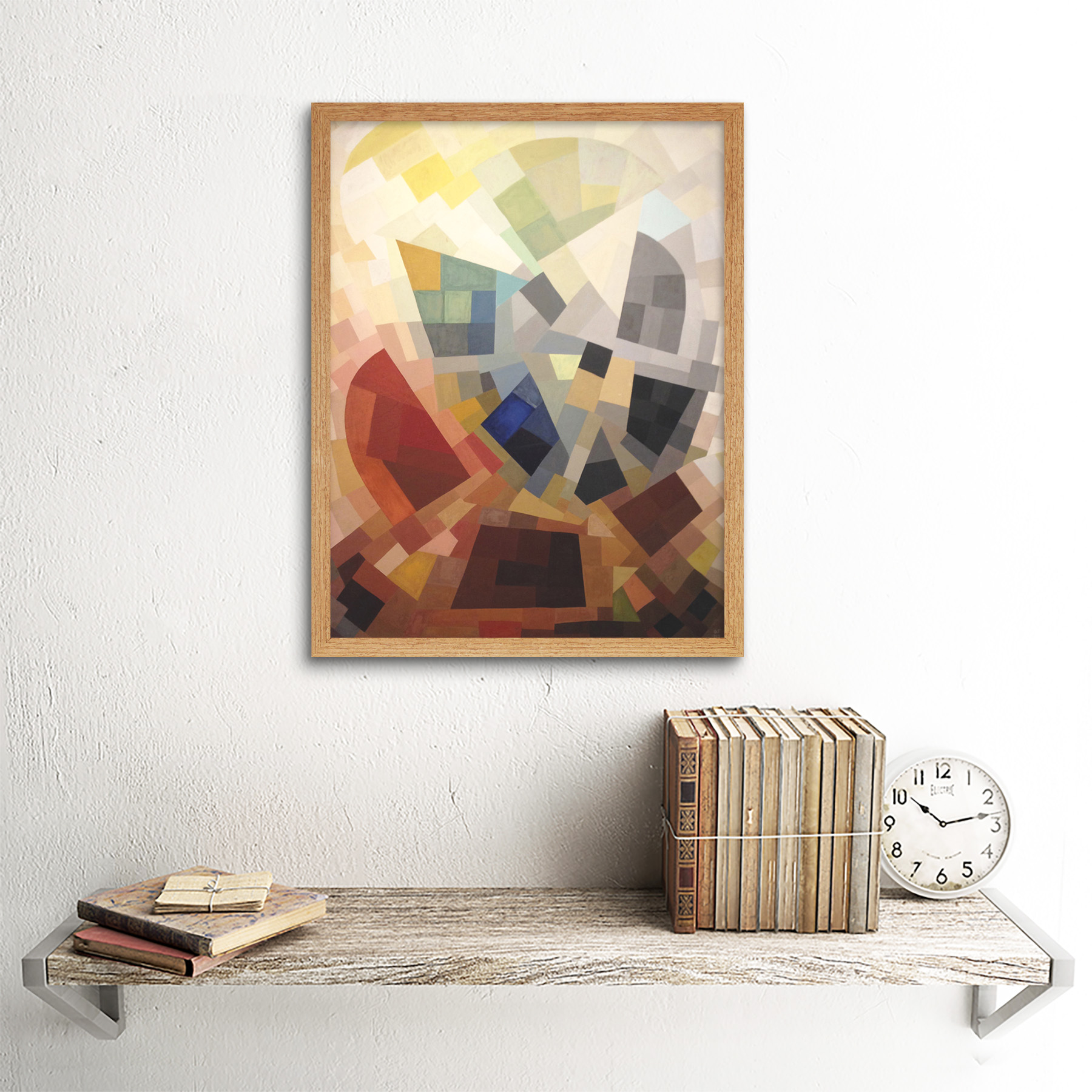 Freundlich-Abstract-Composition-Painting-Art-Print-Framed-12x16 thumbnail 13