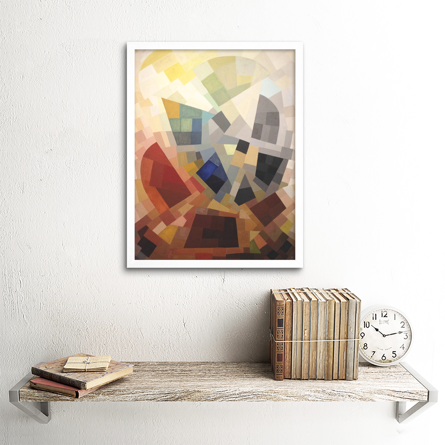 Freundlich-Abstract-Composition-Painting-Art-Print-Framed-12x16 thumbnail 18