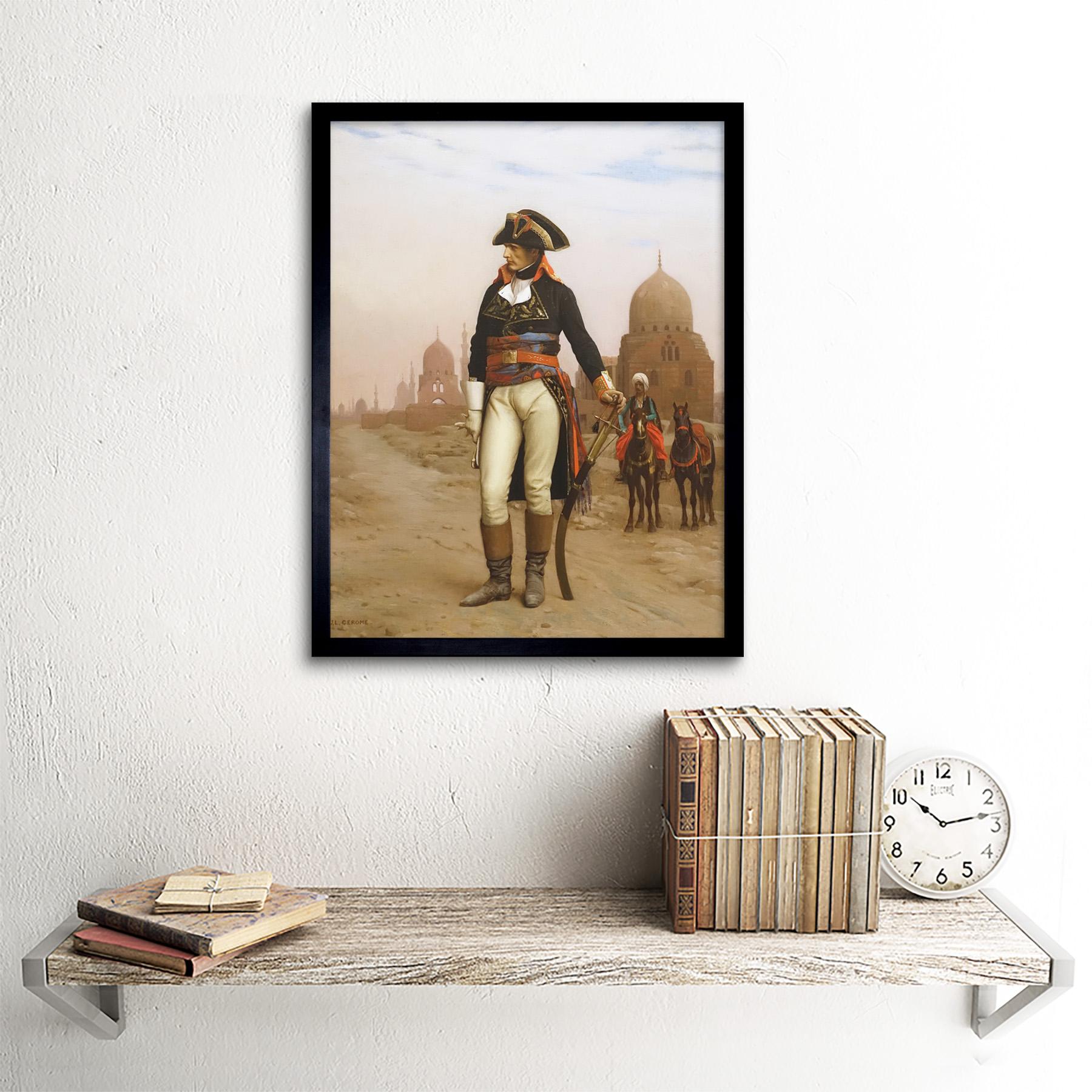 Gerome-Napoleon-Bonaparte-In-Egypt-Painting-Art-Print-Framed-12x16 thumbnail 3