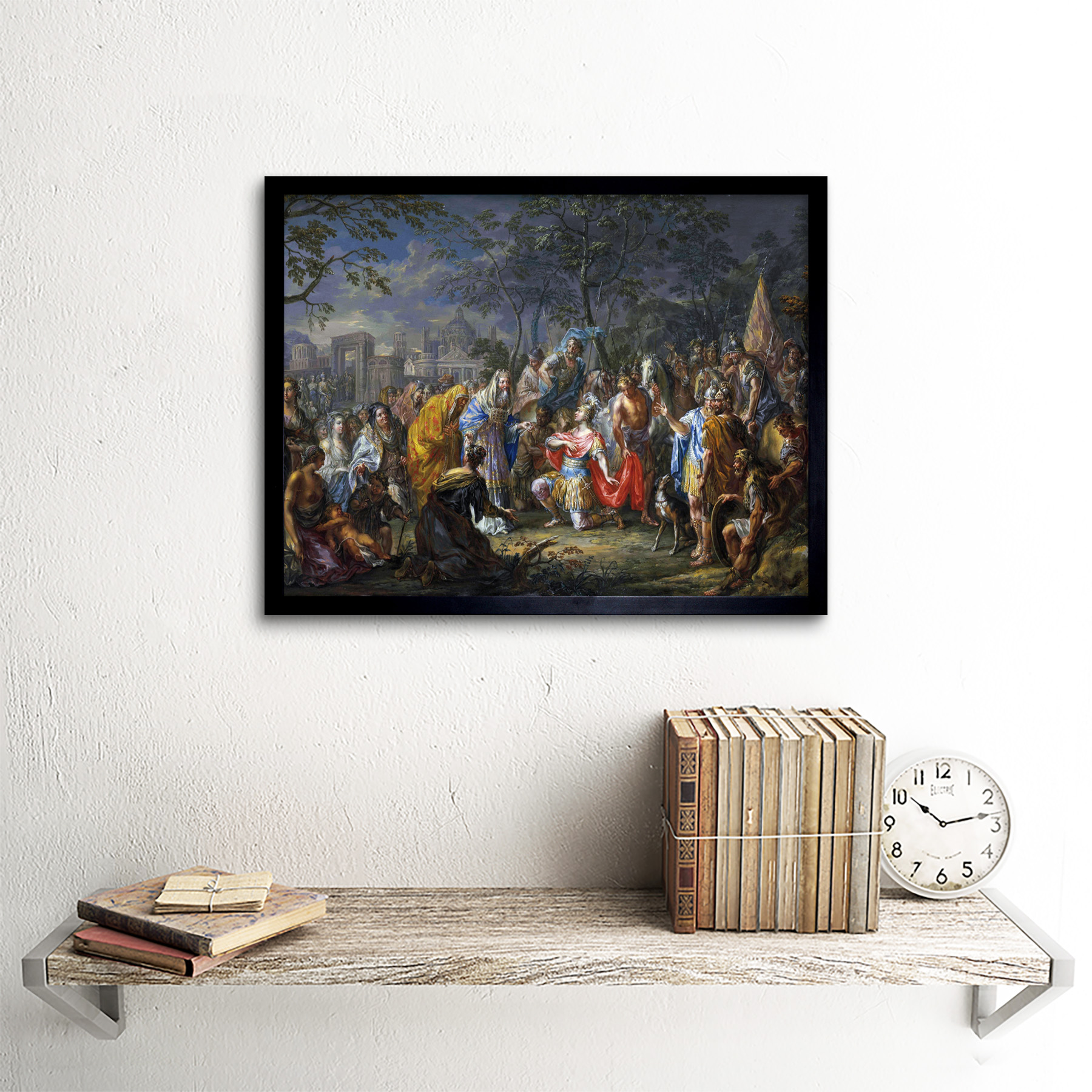 Platzer-Alexander-Great-Keys-Babylon-Painting-Art-Print-Framed-12x16 thumbnail 3