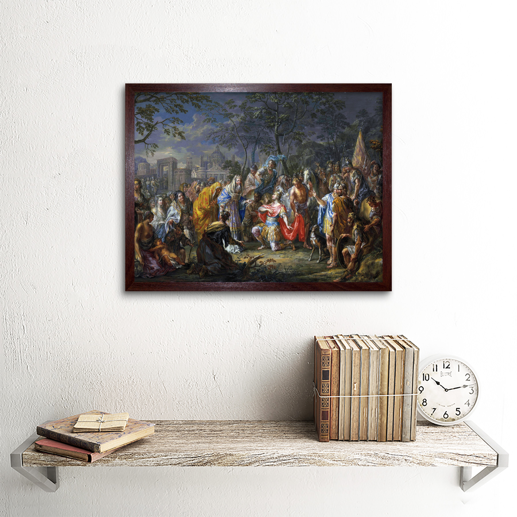 Platzer-Alexander-Great-Keys-Babylon-Painting-Art-Print-Framed-12x16 thumbnail 8