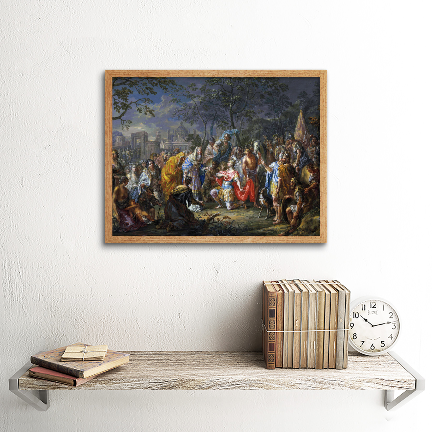 Platzer-Alexander-Great-Keys-Babylon-Painting-Art-Print-Framed-12x16 thumbnail 13