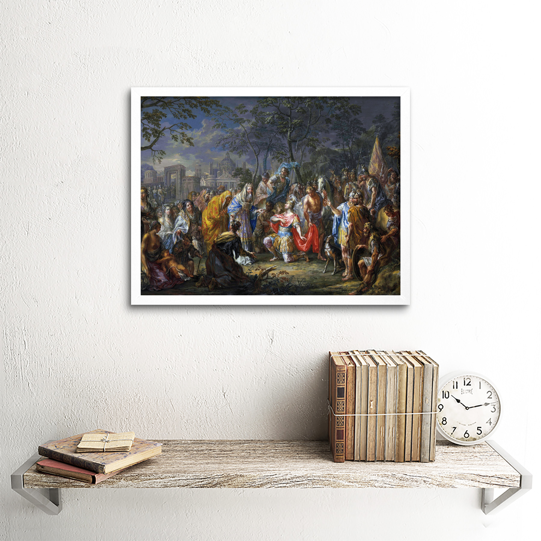 Platzer-Alexander-Great-Keys-Babylon-Painting-Art-Print-Framed-12x16 thumbnail 18