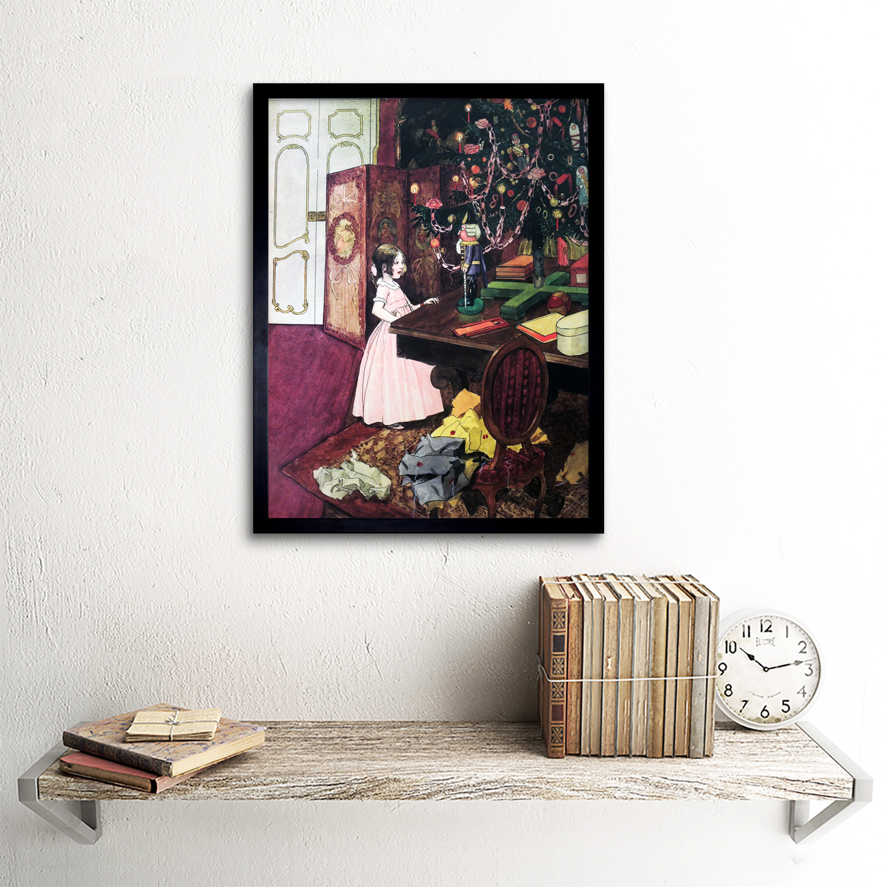 Scheiner-Nutcracker-Mouse-King-Painting-Art-Print-Framed-12x16 thumbnail 3