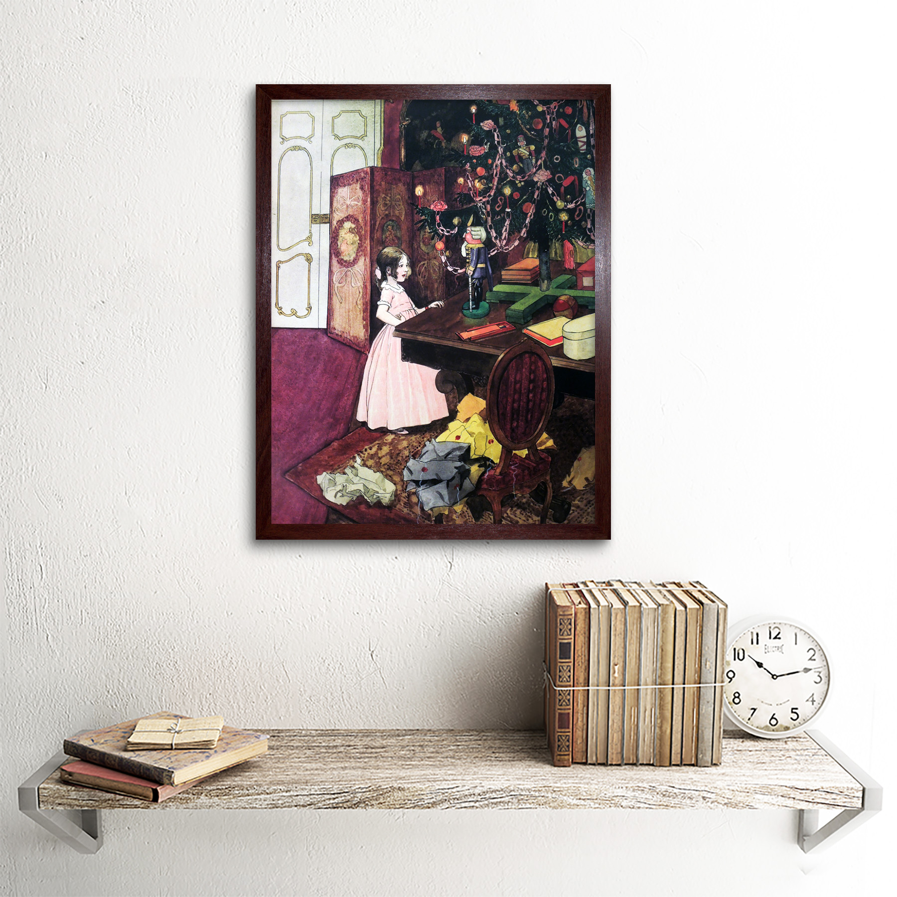 Scheiner-Nutcracker-Mouse-King-Painting-Art-Print-Framed-12x16 thumbnail 8