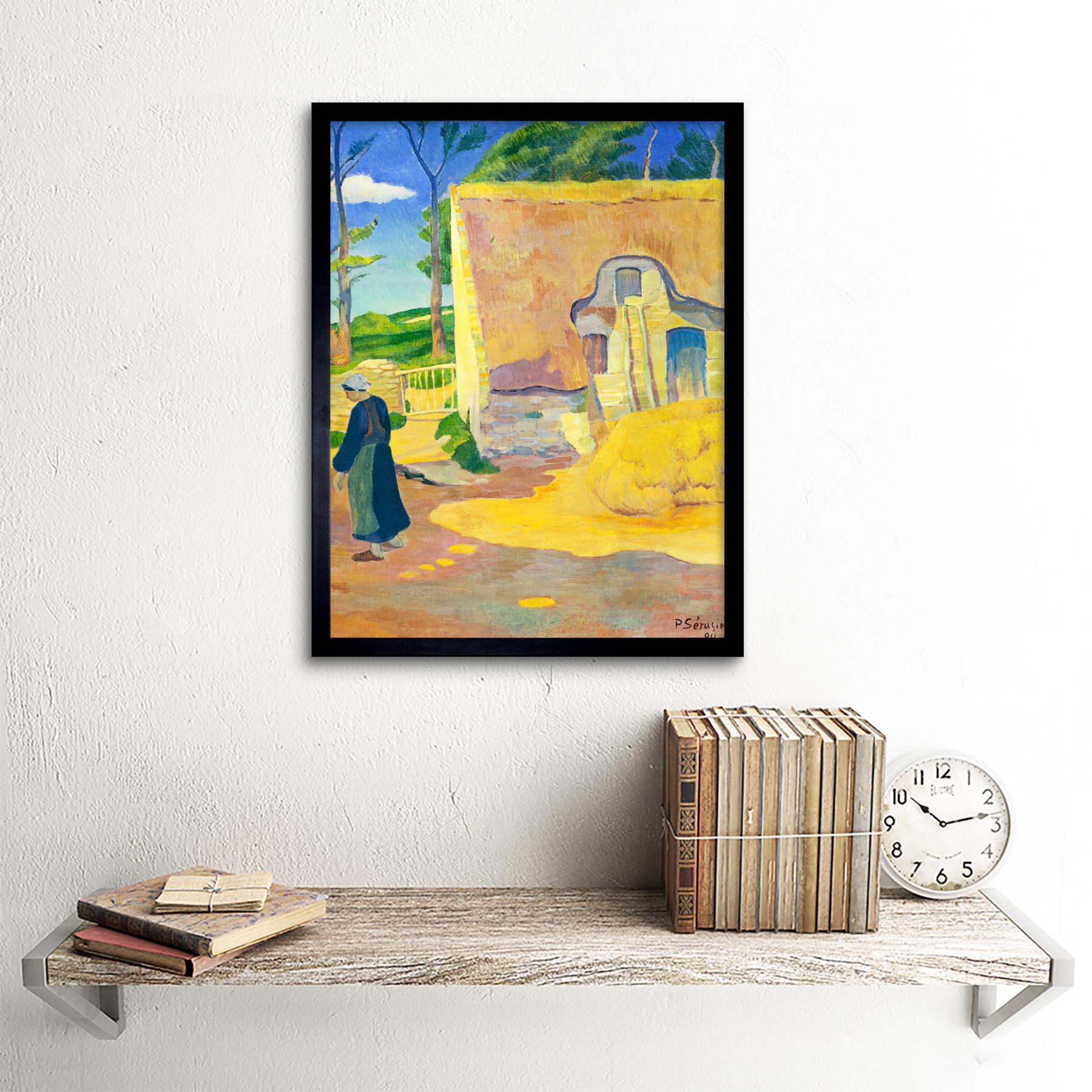 Serusier-Farmhouse-Le-Pouldu-Painting-Art-Print-Framed-12x16 thumbnail 3