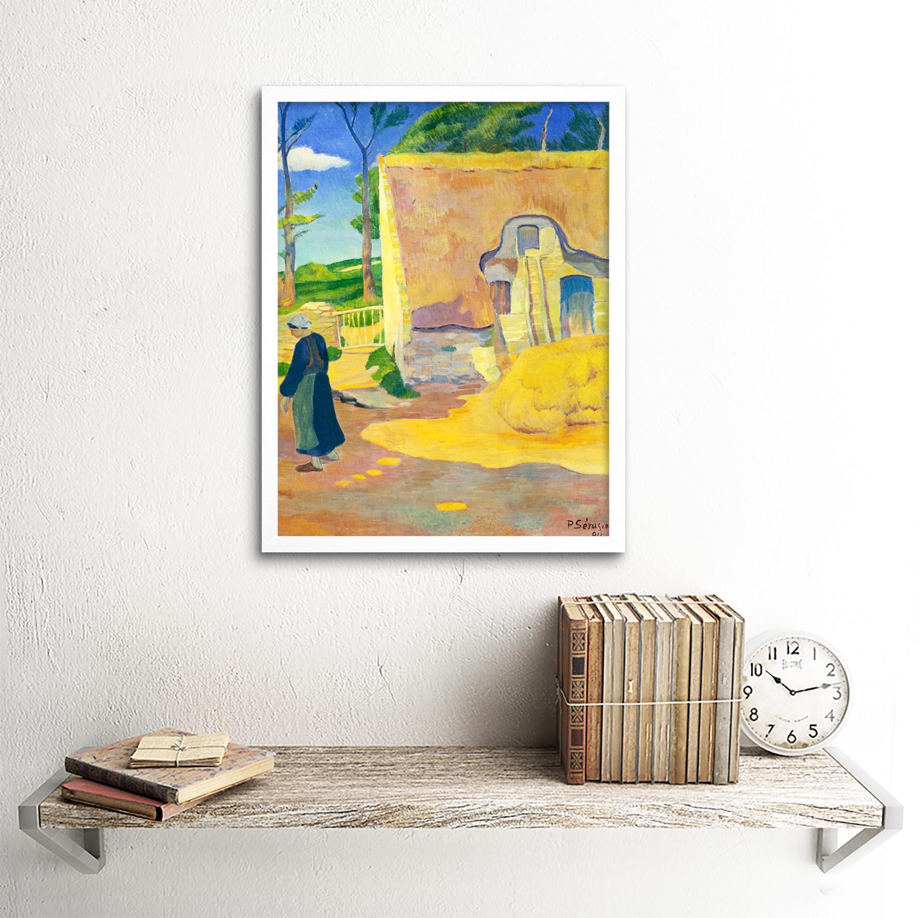Serusier-Farmhouse-Le-Pouldu-Painting-Art-Print-Framed-12x16 thumbnail 18