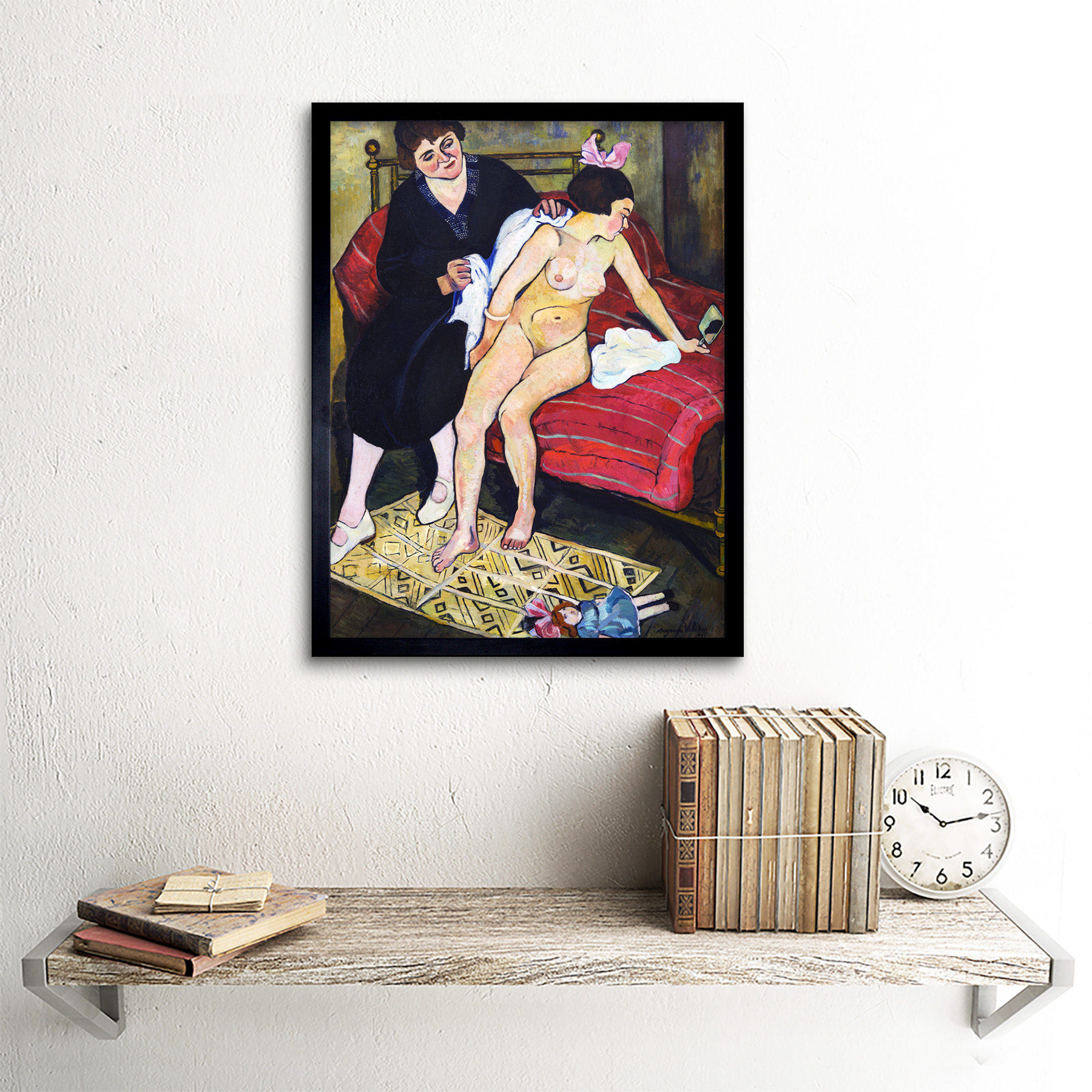 Valadon-The-Abandoned-Doll-Painting-Art-Print-Framed-12x16 thumbnail 3