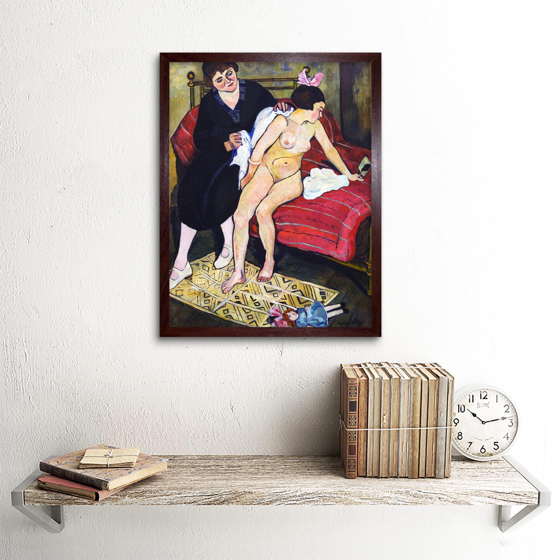 Valadon-The-Abandoned-Doll-Painting-Art-Print-Framed-12x16 thumbnail 8