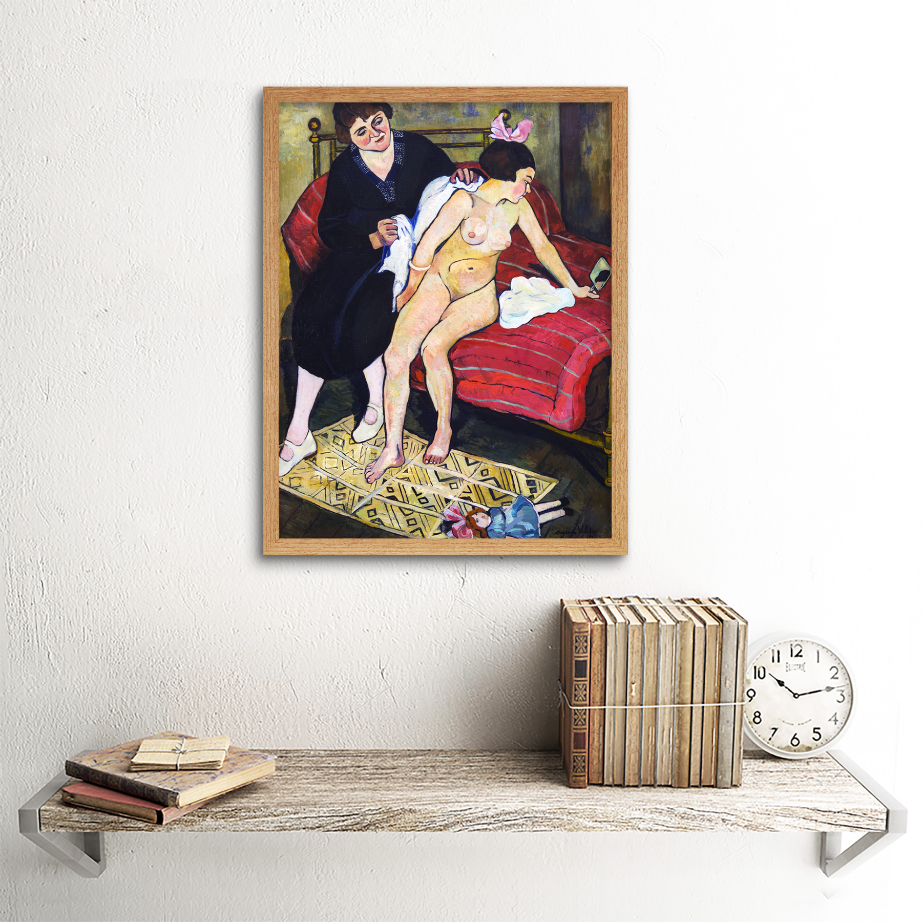 Valadon-The-Abandoned-Doll-Painting-Art-Print-Framed-12x16 thumbnail 13