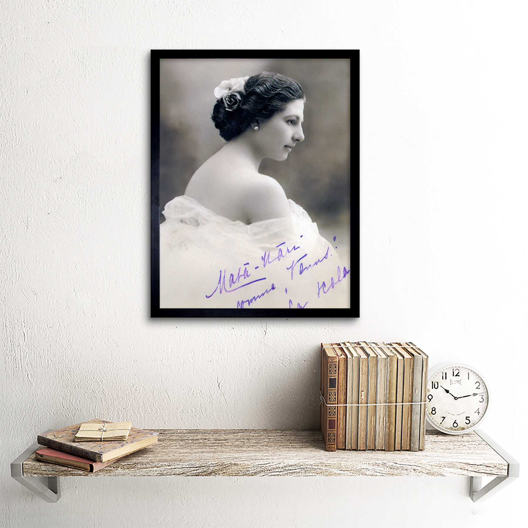 Autographed-Portrait-Dancer-Spy-Mata-Hari-Photo-Framed-Wall-Art-Poster thumbnail 3