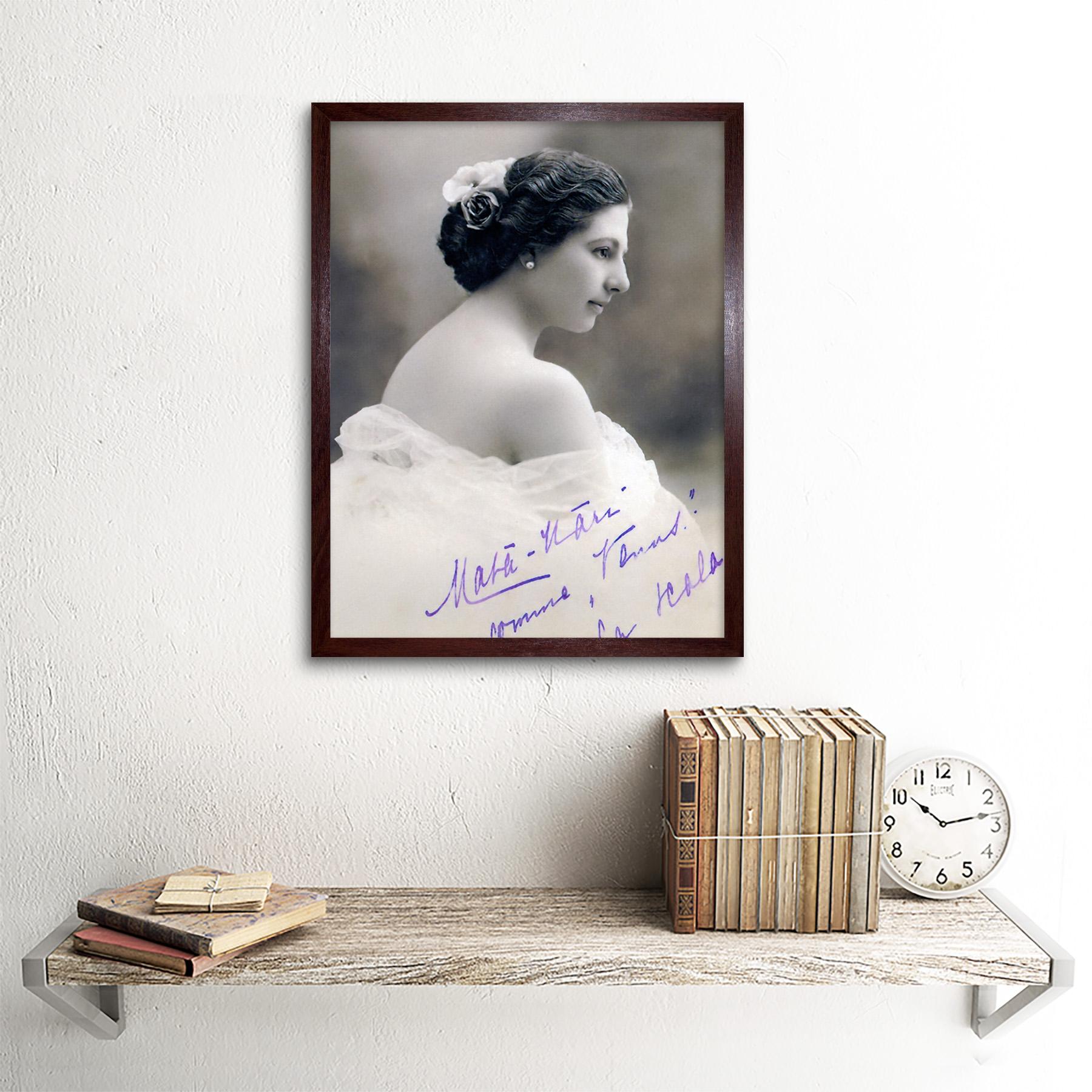 Autographed-Portrait-Dancer-Spy-Mata-Hari-Photo-Framed-Wall-Art-Poster thumbnail 8