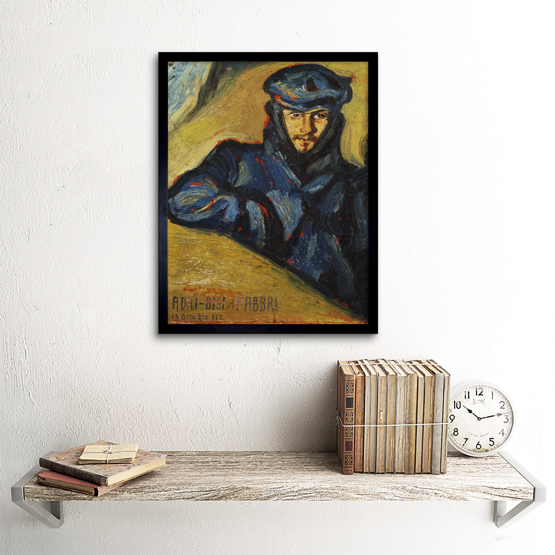 Bisi-Fabbri-Aviator-Pilot-Ricordo-Chavez-Painting-Framed-Wall-Art-Poster thumbnail 3