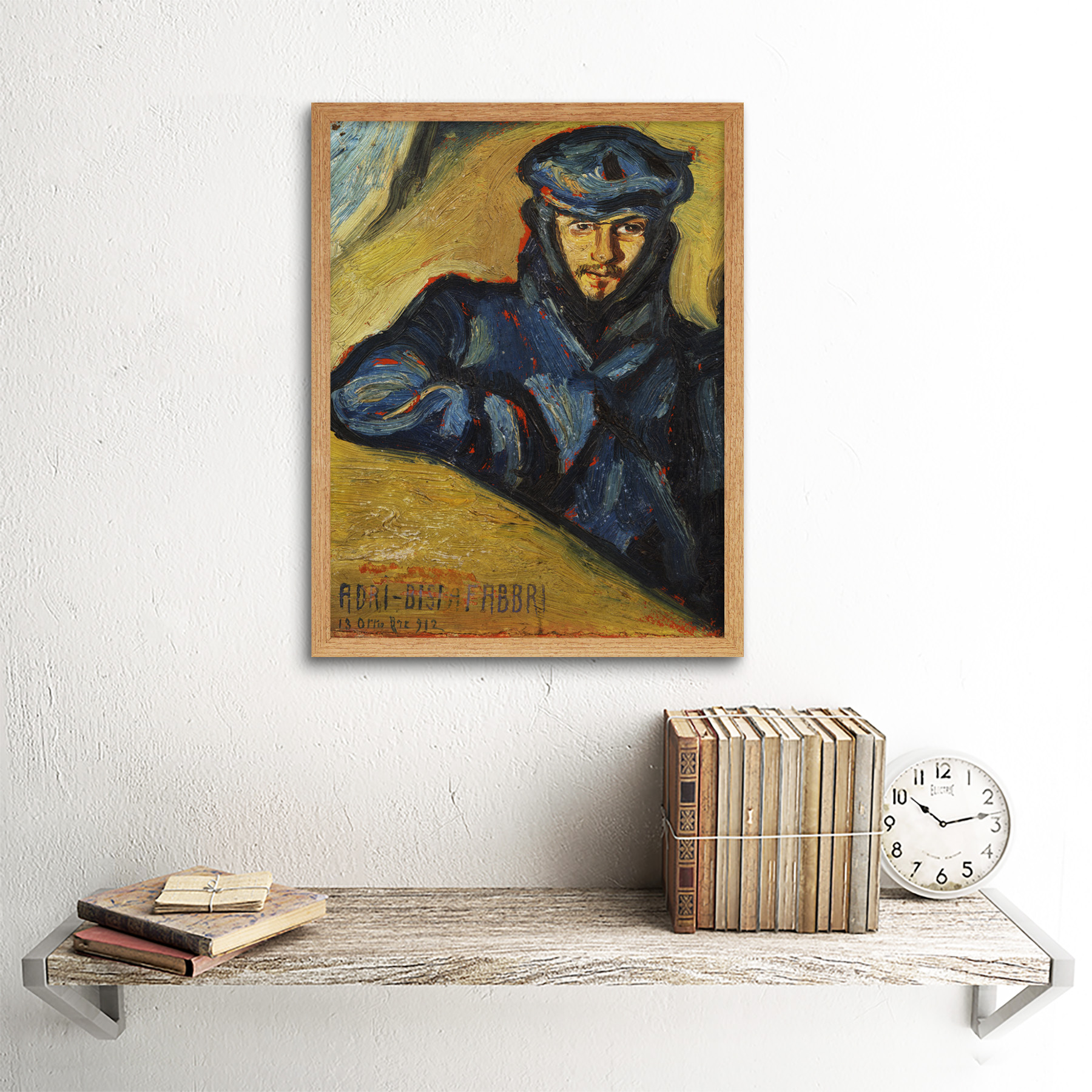Bisi-Fabbri-Aviator-Pilot-Ricordo-Chavez-Painting-Framed-Wall-Art-Poster thumbnail 13