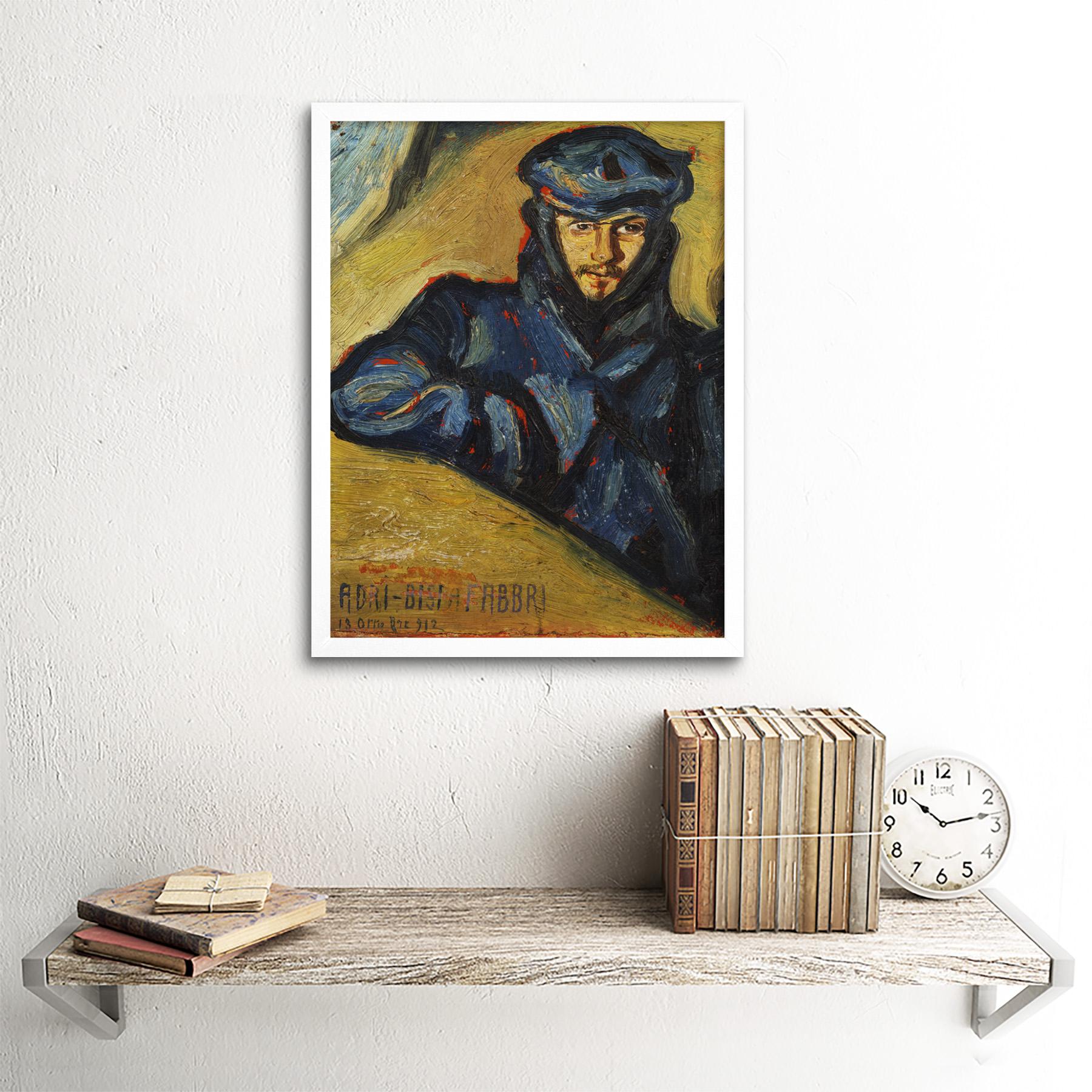 Bisi-Fabbri-Aviator-Pilot-Ricordo-Chavez-Painting-Framed-Wall-Art-Poster thumbnail 18