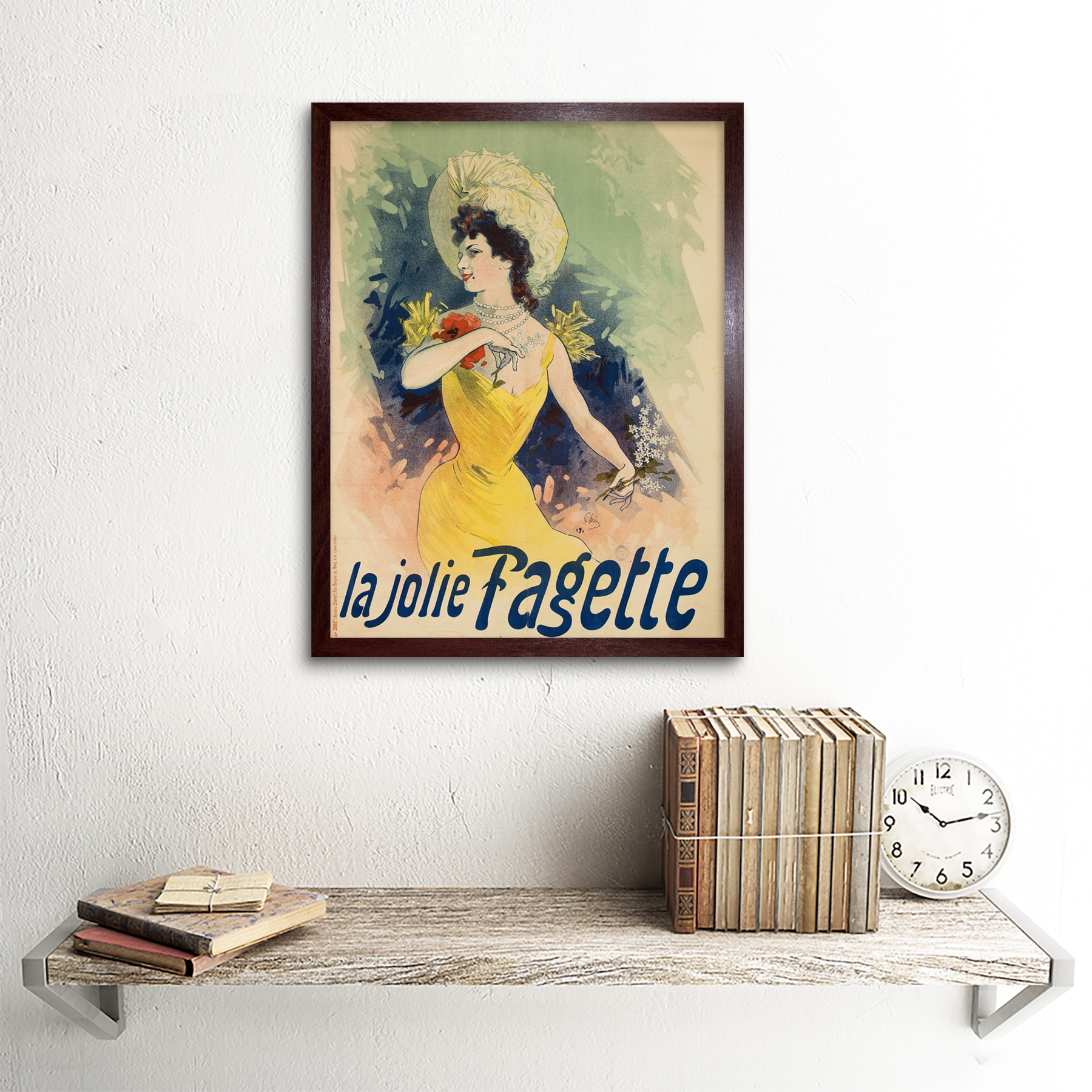 Cheret-Singer-Pretty-Fagette-Nouveau-Advert-Framed-Wall-Art-Poster thumbnail 8
