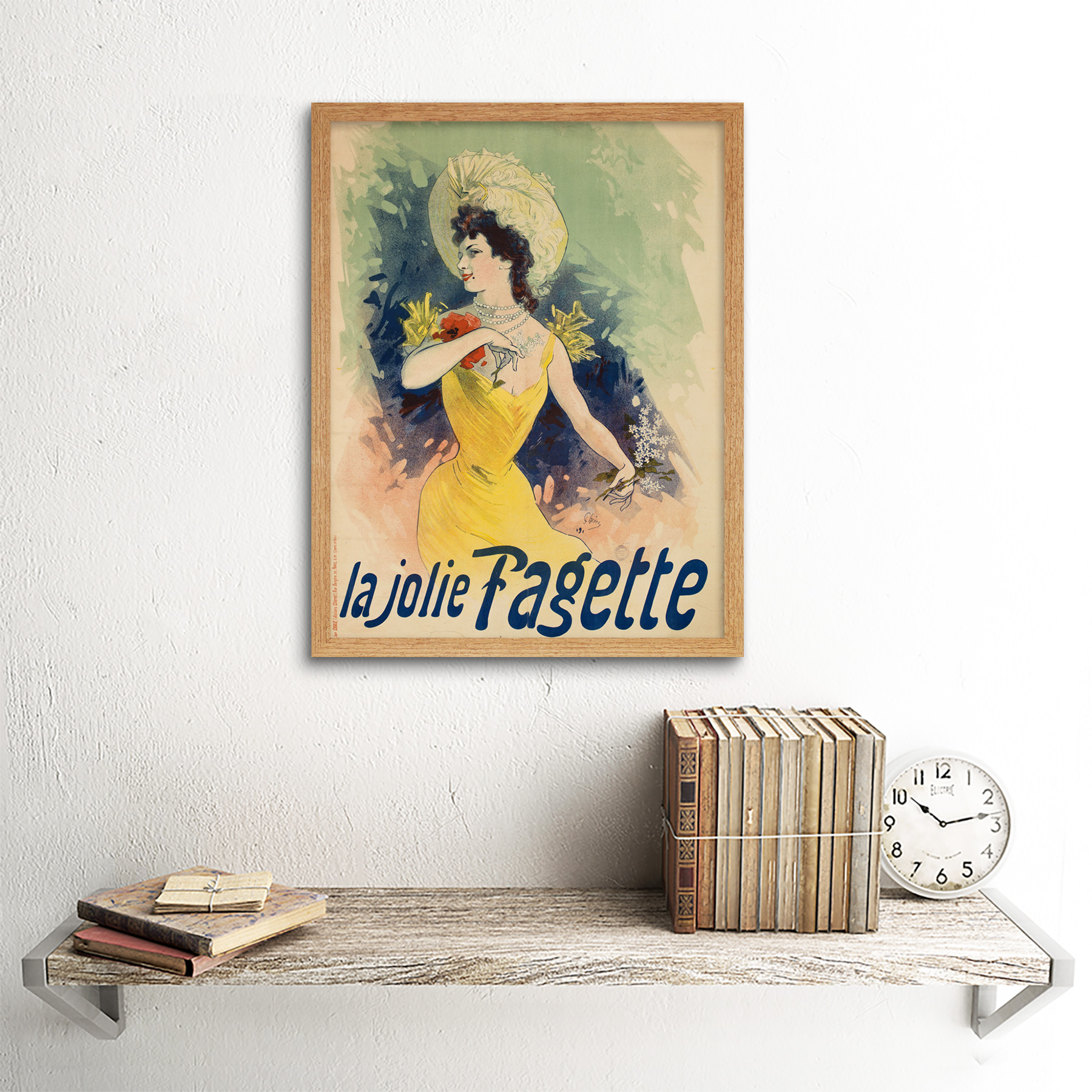 Cheret-Singer-Pretty-Fagette-Nouveau-Advert-Framed-Wall-Art-Poster thumbnail 13
