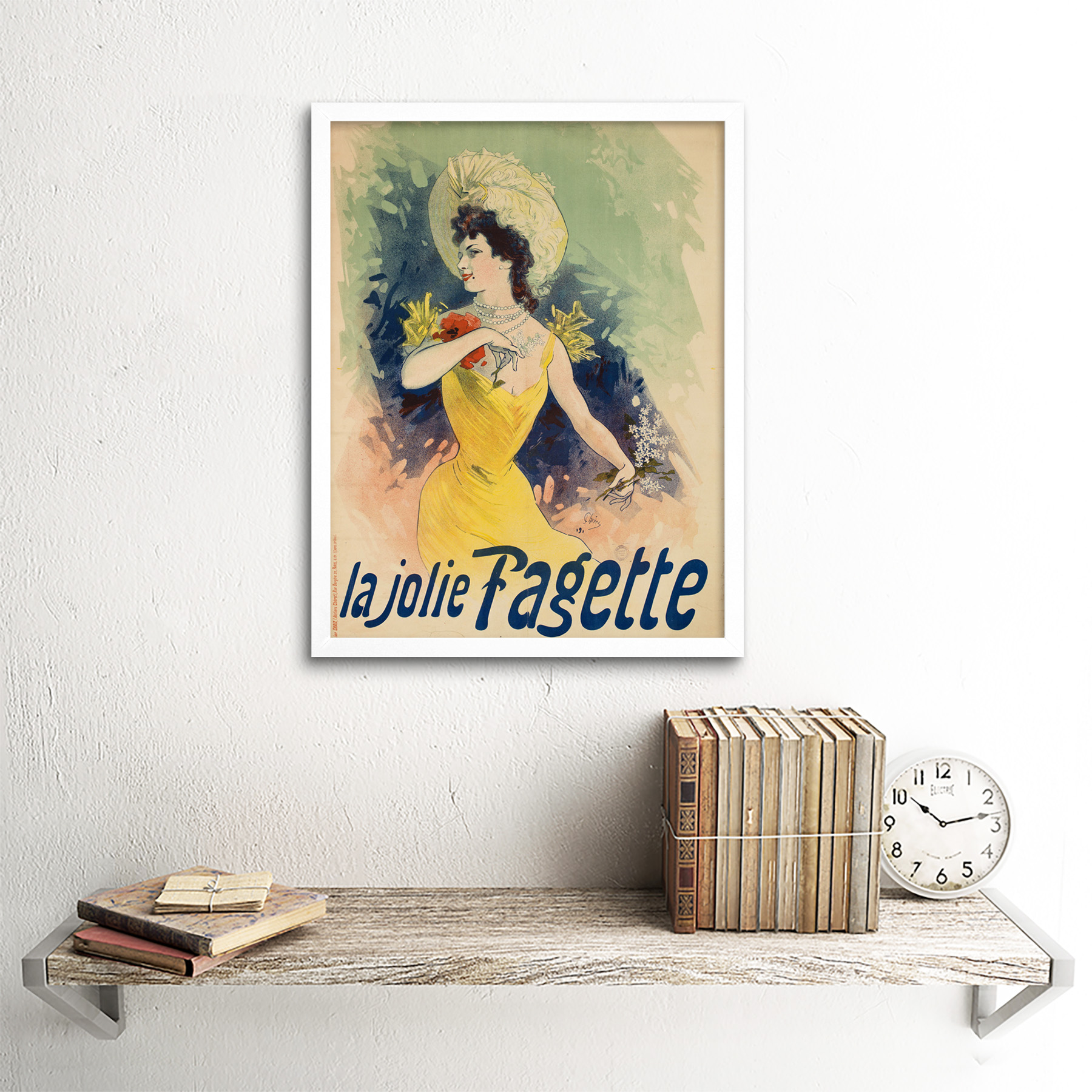 Cheret-Singer-Pretty-Fagette-Nouveau-Advert-Framed-Wall-Art-Poster thumbnail 18