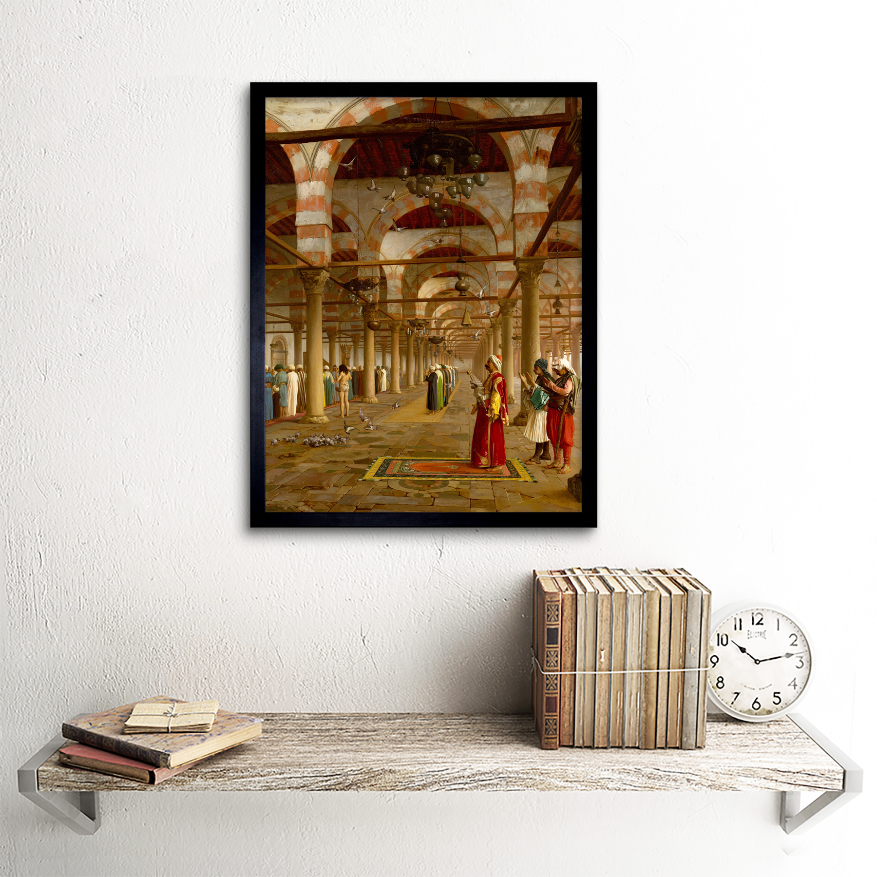 Gerome-Prayer-Mosque-Islamic-Painting-Framed-Wall-Art-Poster thumbnail 3