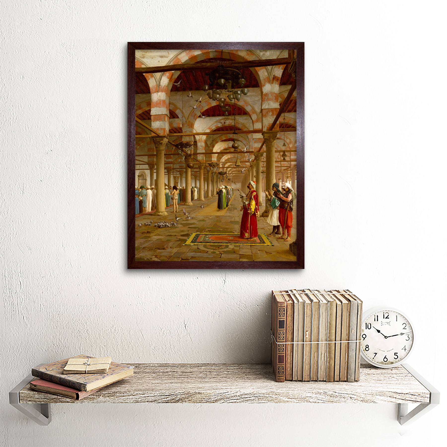 Gerome-Prayer-Mosque-Islamic-Painting-Framed-Wall-Art-Poster thumbnail 8