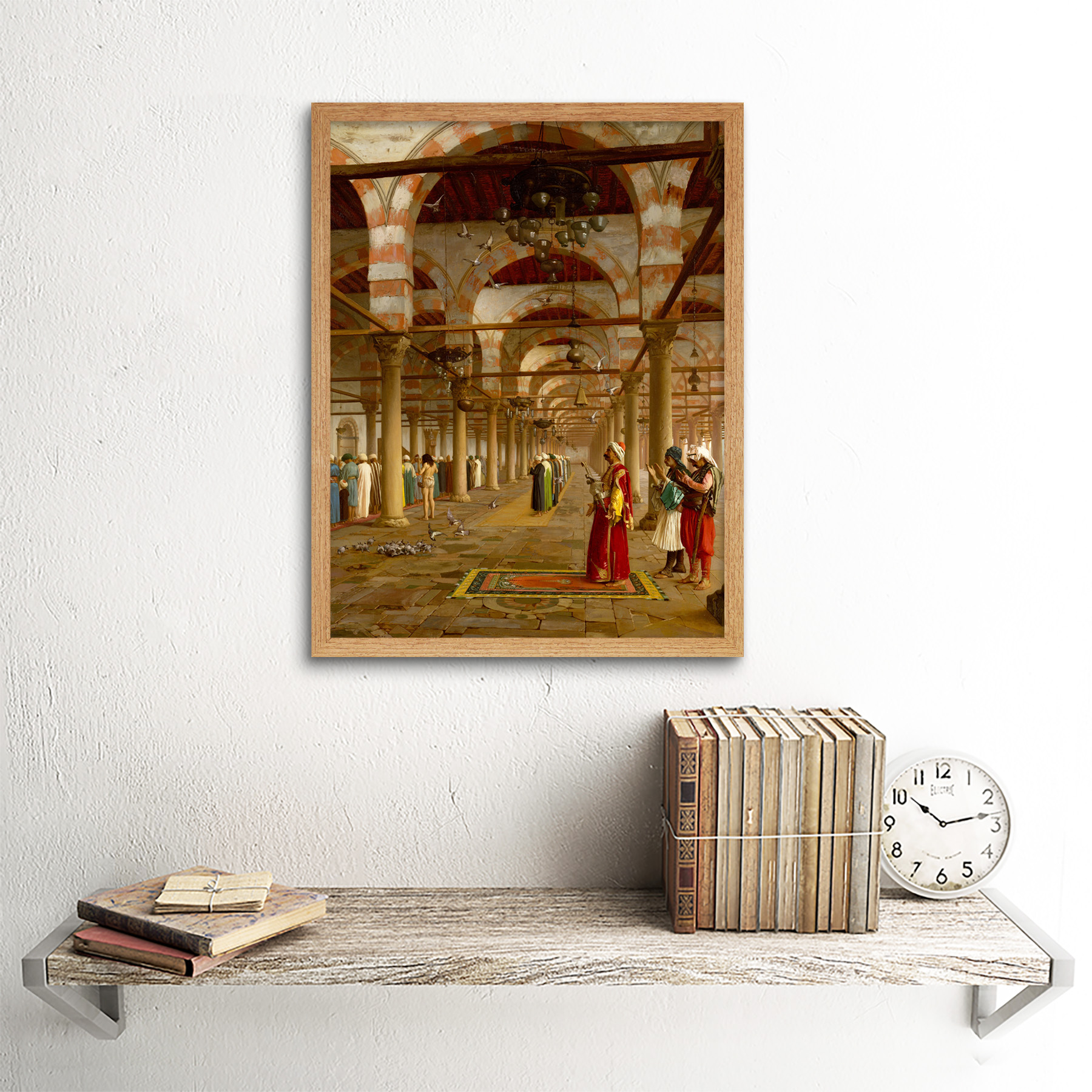 Gerome-Prayer-Mosque-Islamic-Painting-Framed-Wall-Art-Poster thumbnail 13