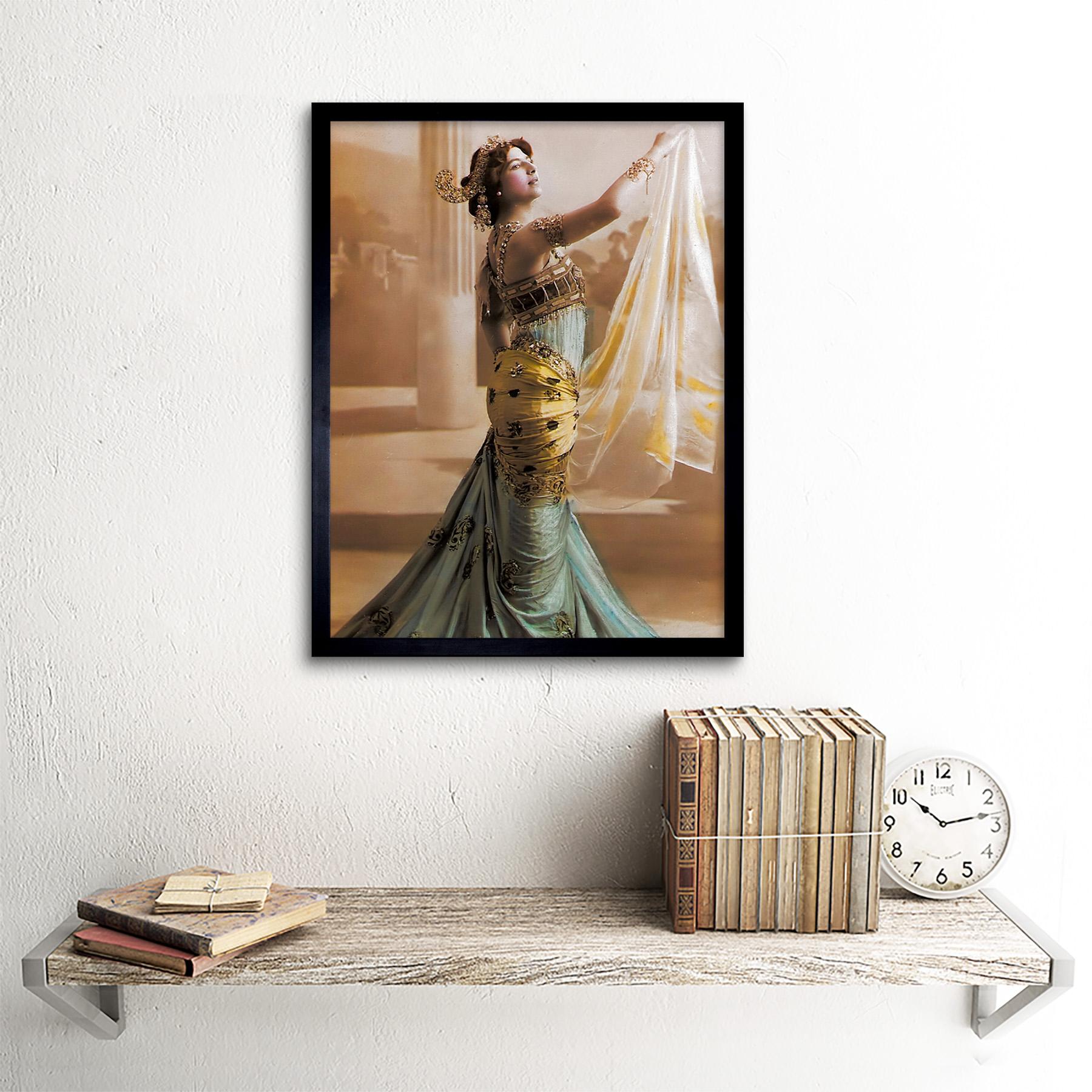 Hand-Coloured-Portrait-Dancer-Spy-Mata-Hari-Photo-Framed-Wall-Art-Poster thumbnail 3