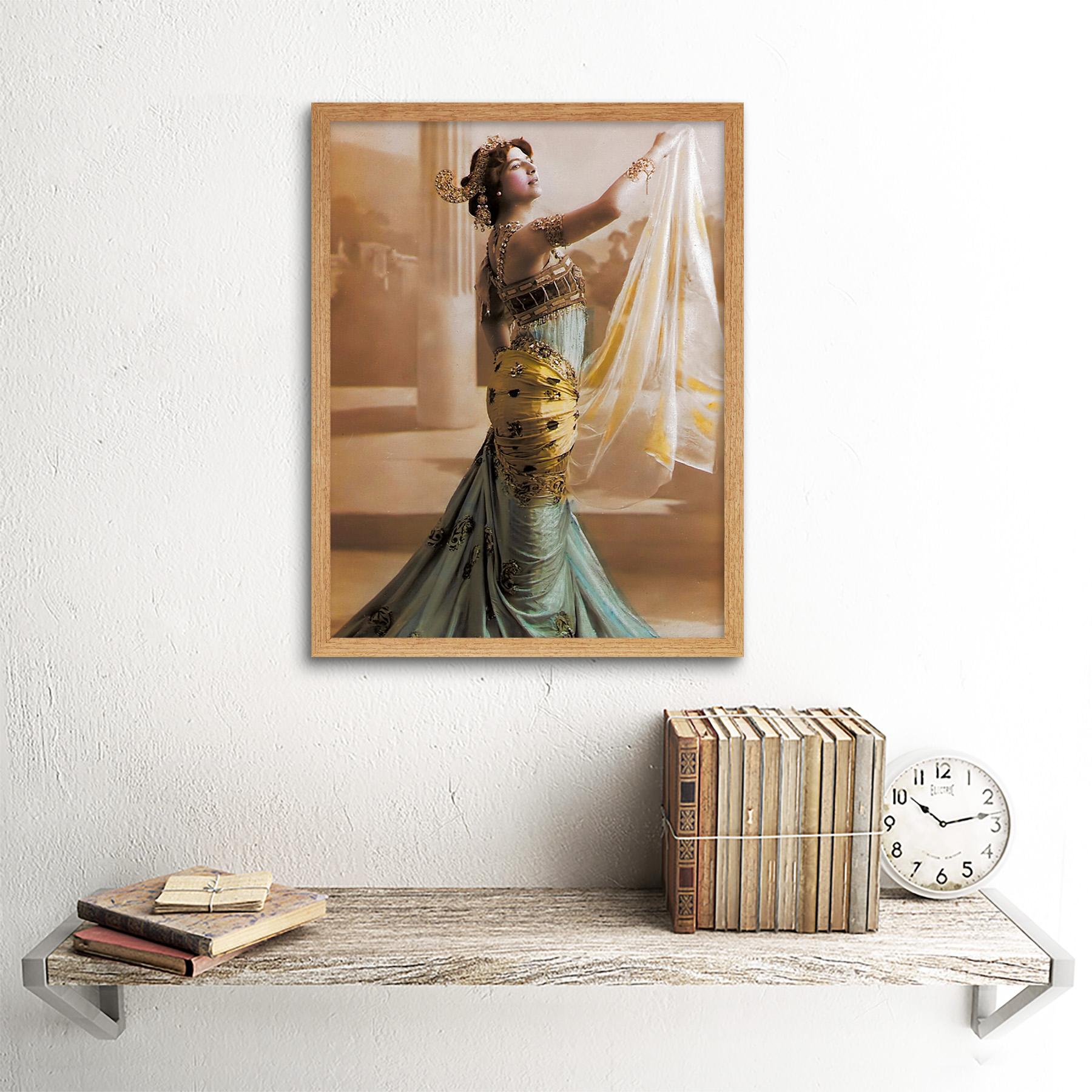 Hand-Coloured-Portrait-Dancer-Spy-Mata-Hari-Photo-Framed-Wall-Art-Poster thumbnail 13