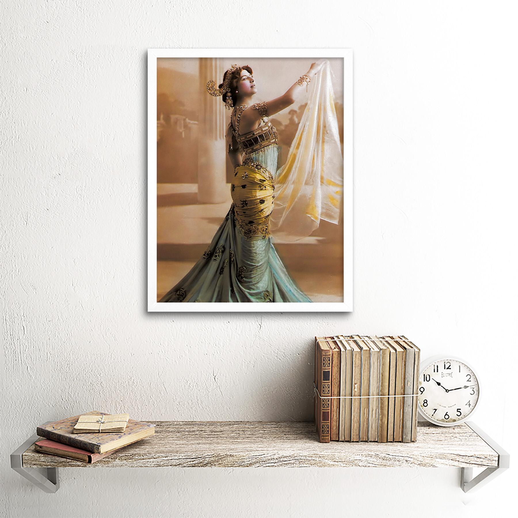 Hand-Coloured-Portrait-Dancer-Spy-Mata-Hari-Photo-Framed-Wall-Art-Poster thumbnail 18