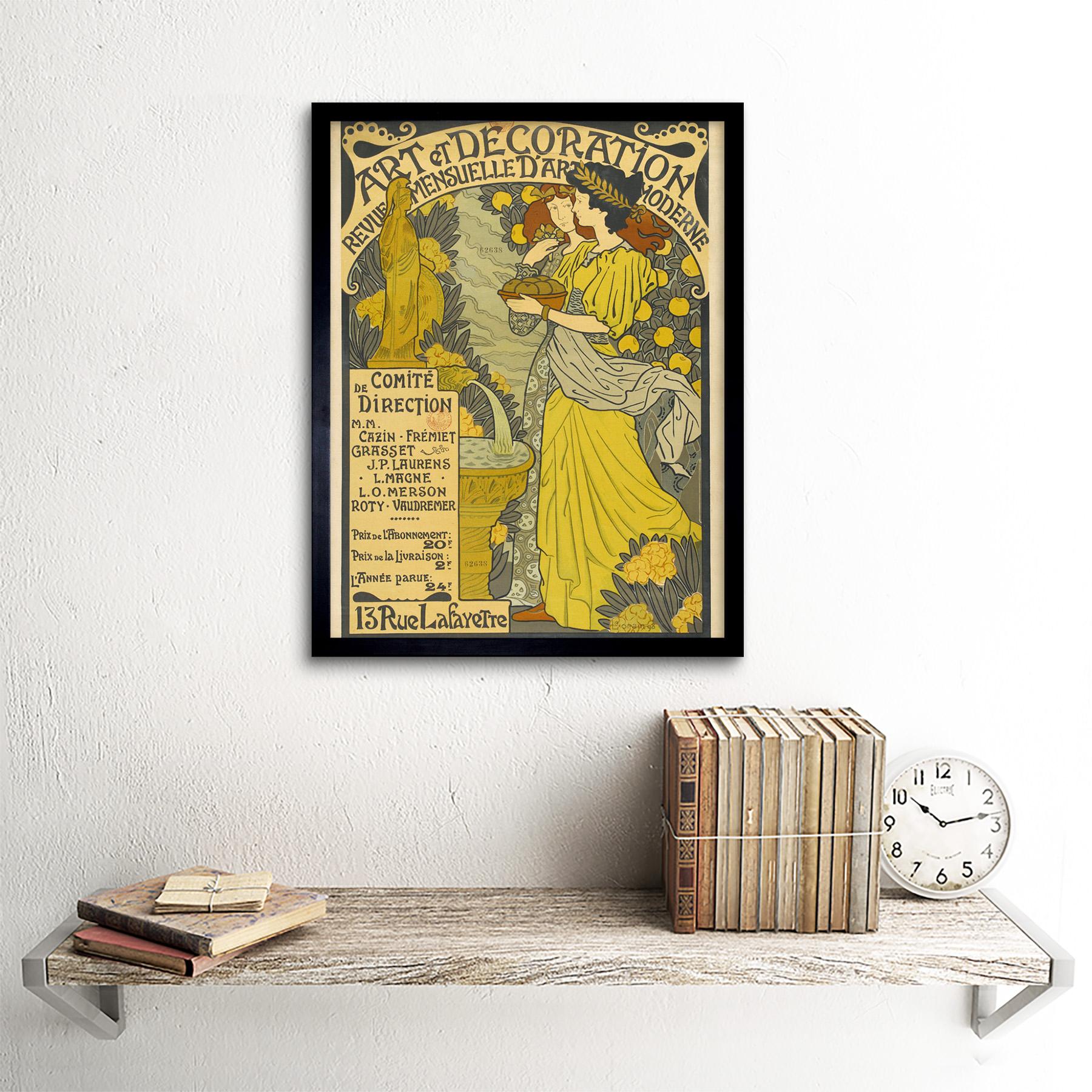 Lorain-Decoration-Magazine-Nouveau-French-Advert-Framed-Wall-Art-Poster thumbnail 3