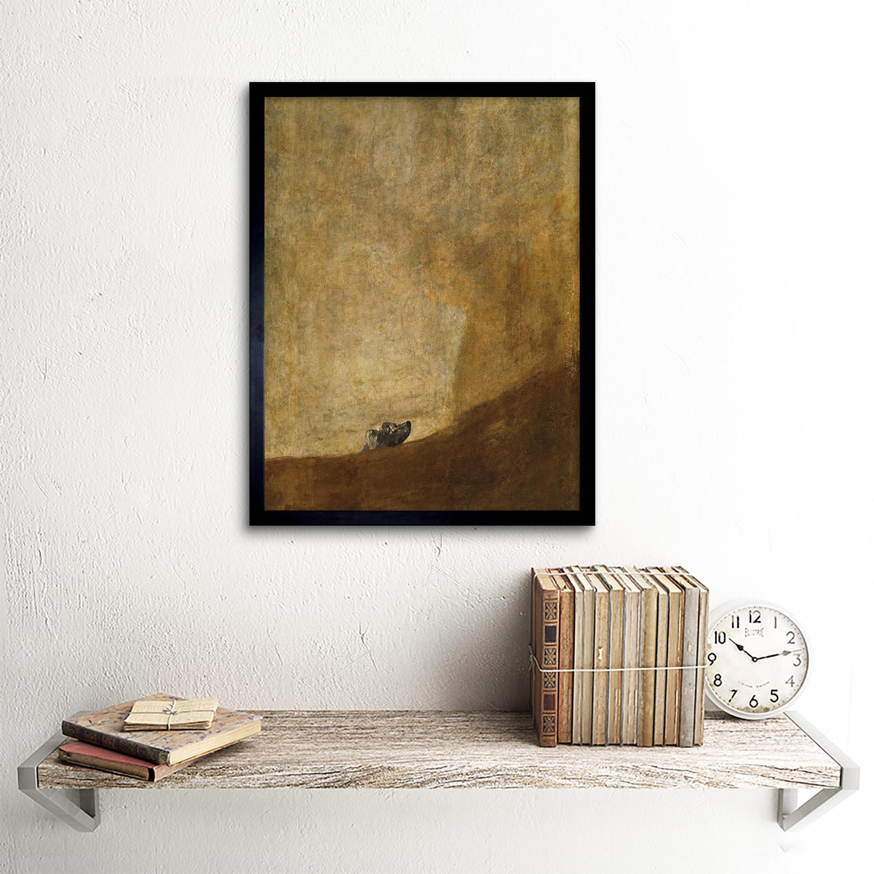 Goya-Dog-Painting-Wall-Art-Print-Framed-12x16 thumbnail 3