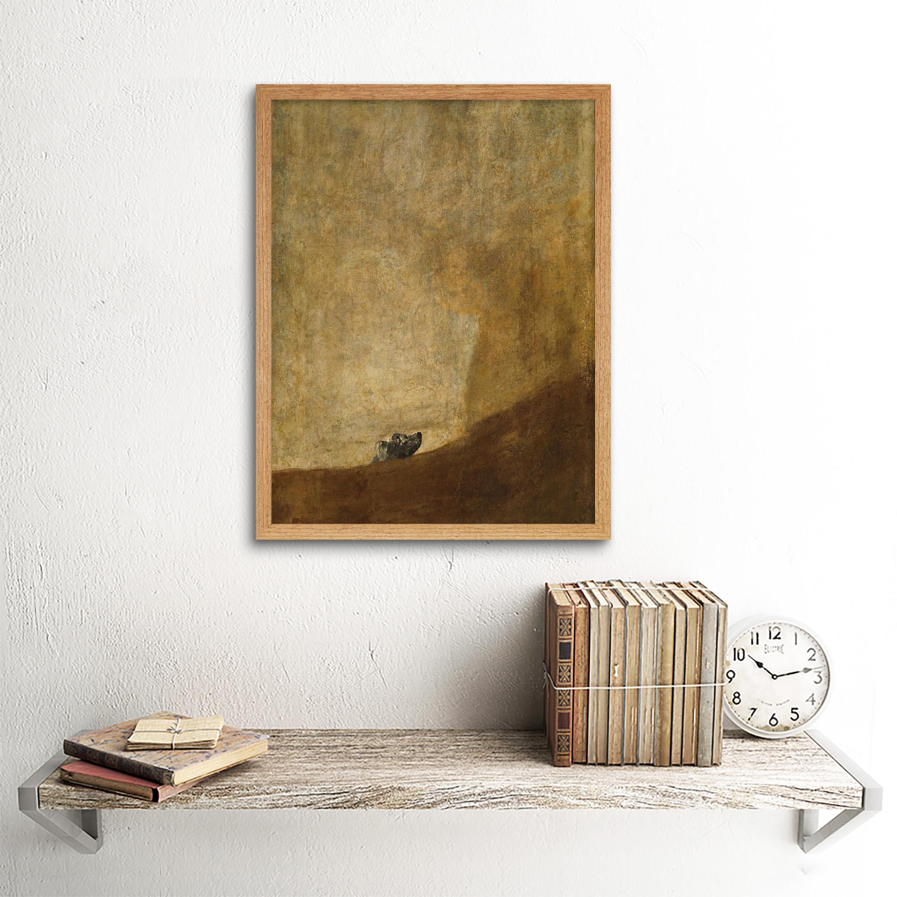 Goya-Dog-Painting-Wall-Art-Print-Framed-12x16 thumbnail 13