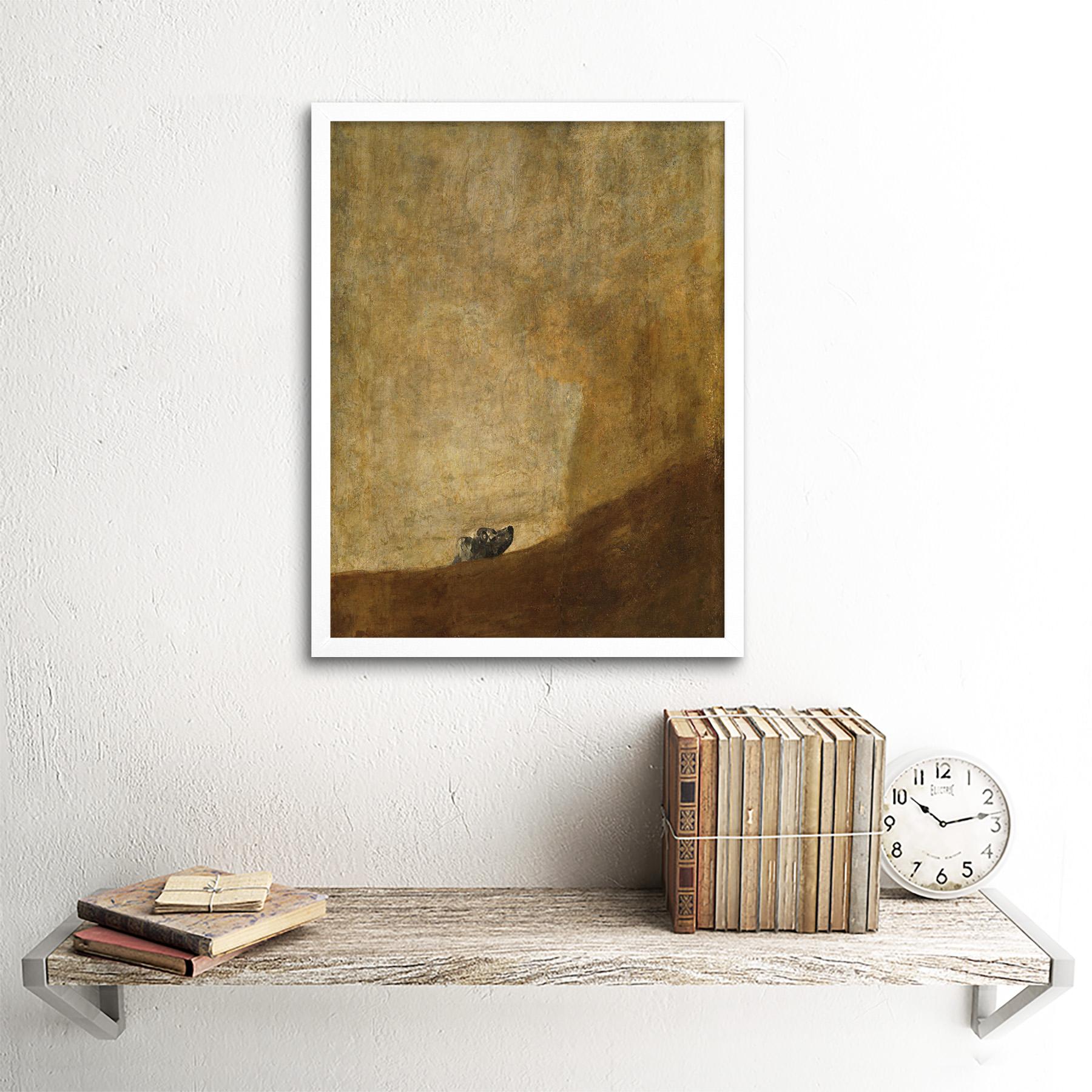 Goya-Dog-Painting-Wall-Art-Print-Framed-12x16 thumbnail 18