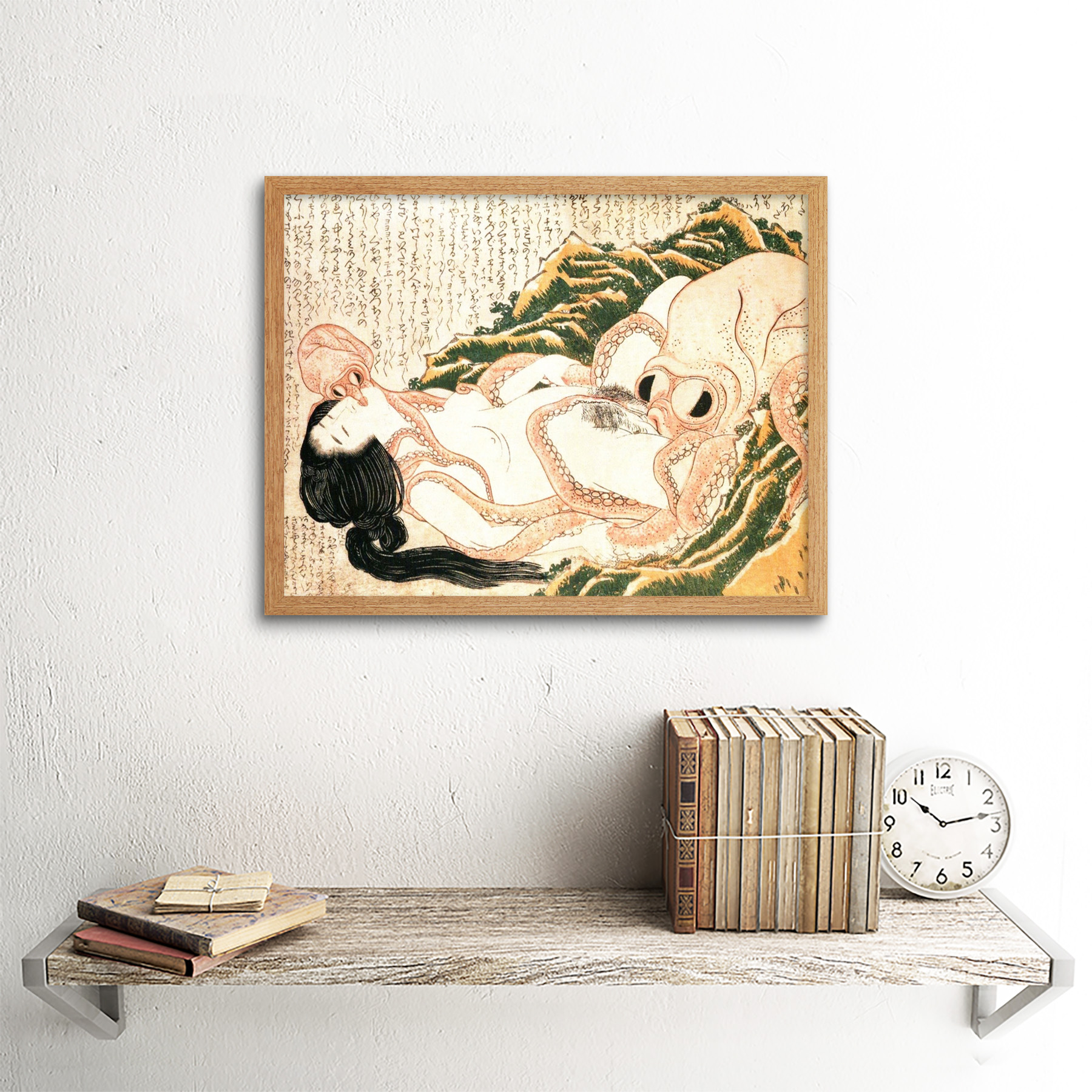 thumbnail 13 - Hokusai-Octopus-Fishermans-Wife-Dreams-Adult-Japanese-Art-Print-Framed-12x16