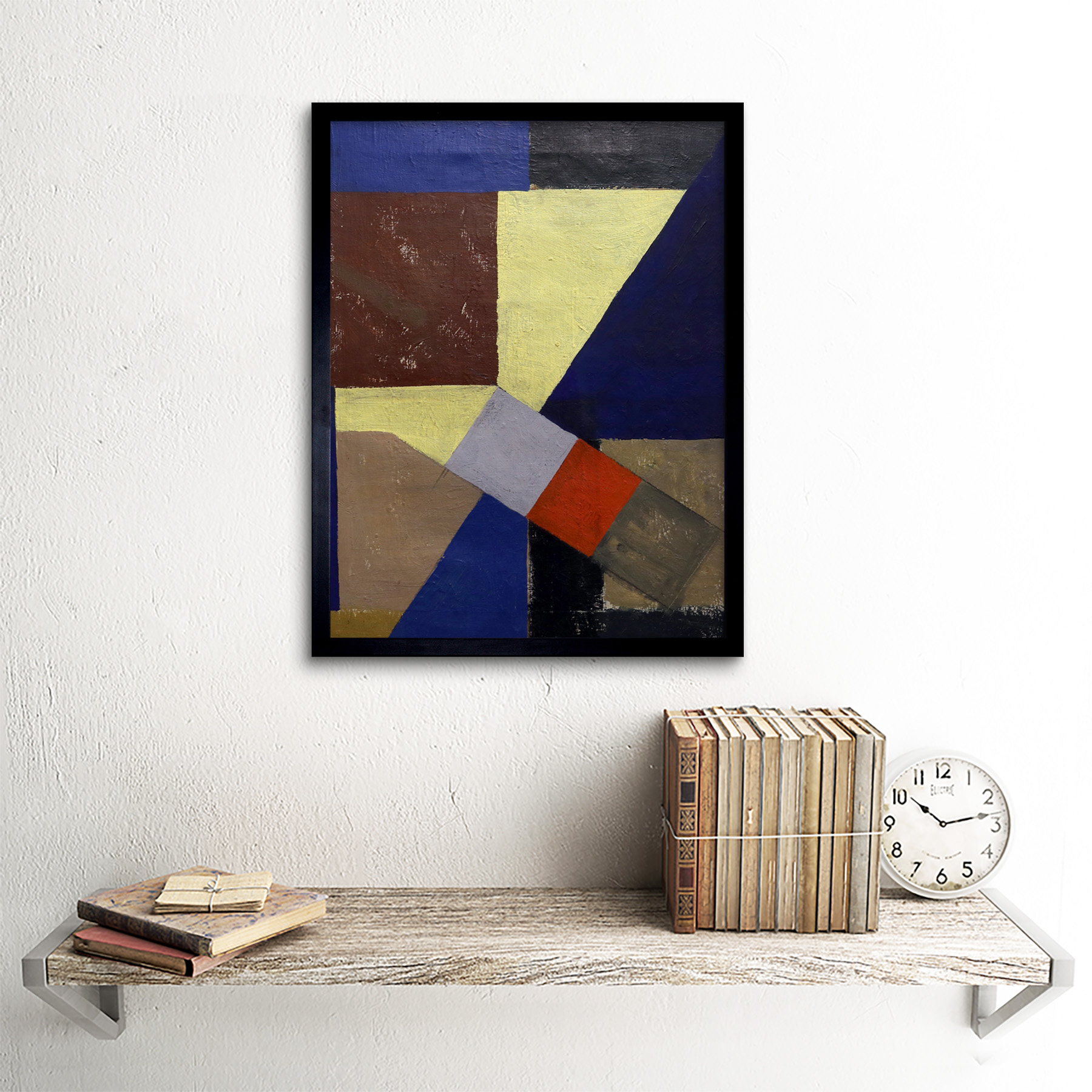 Schwitters-Kurt-Abstract-Composition-Painting-Wall-Art-Print-Framed-12x16 thumbnail 3
