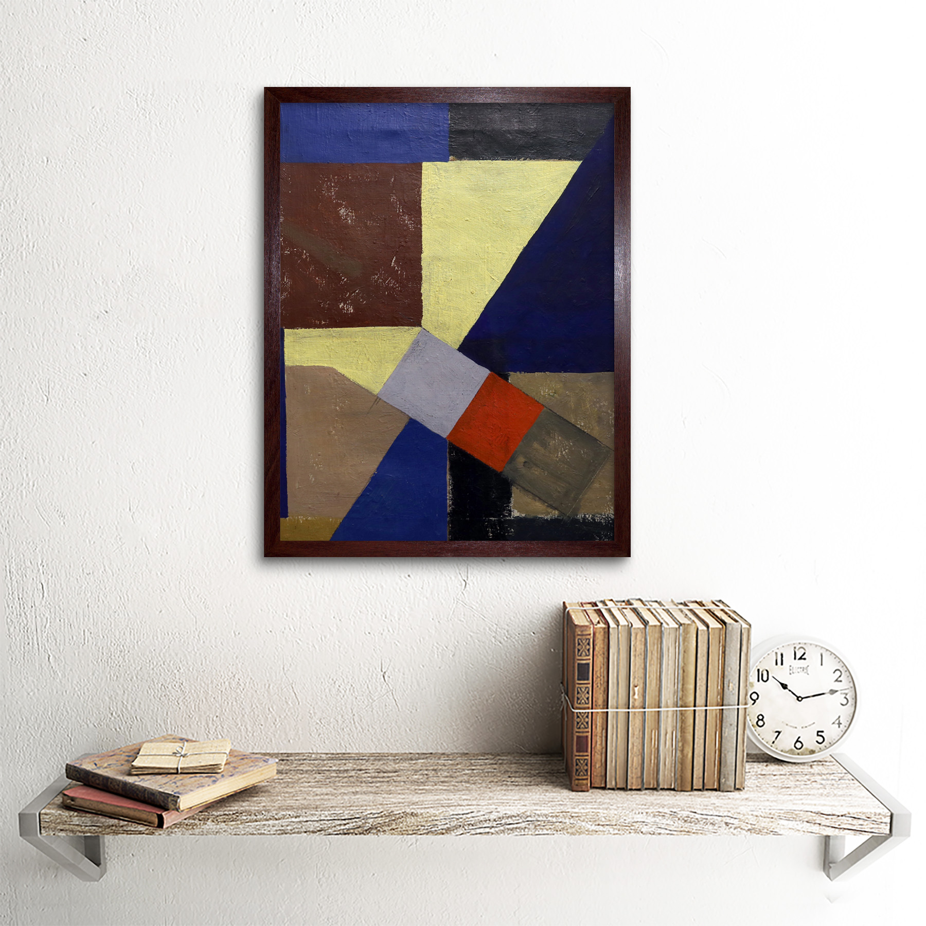 Schwitters-Kurt-Abstract-Composition-Painting-Wall-Art-Print-Framed-12x16 thumbnail 8