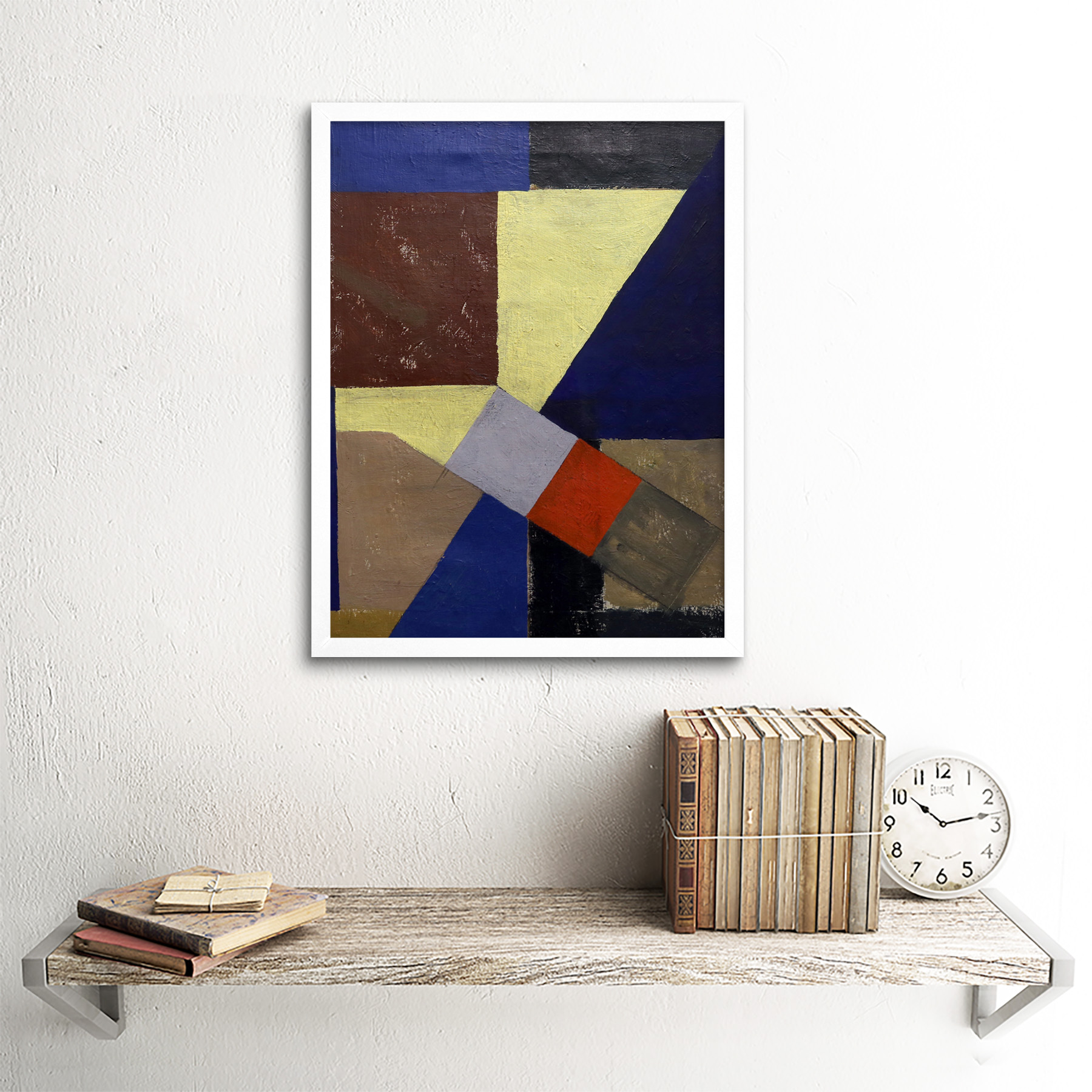 Schwitters-Kurt-Abstract-Composition-Painting-Wall-Art-Print-Framed-12x16 thumbnail 18