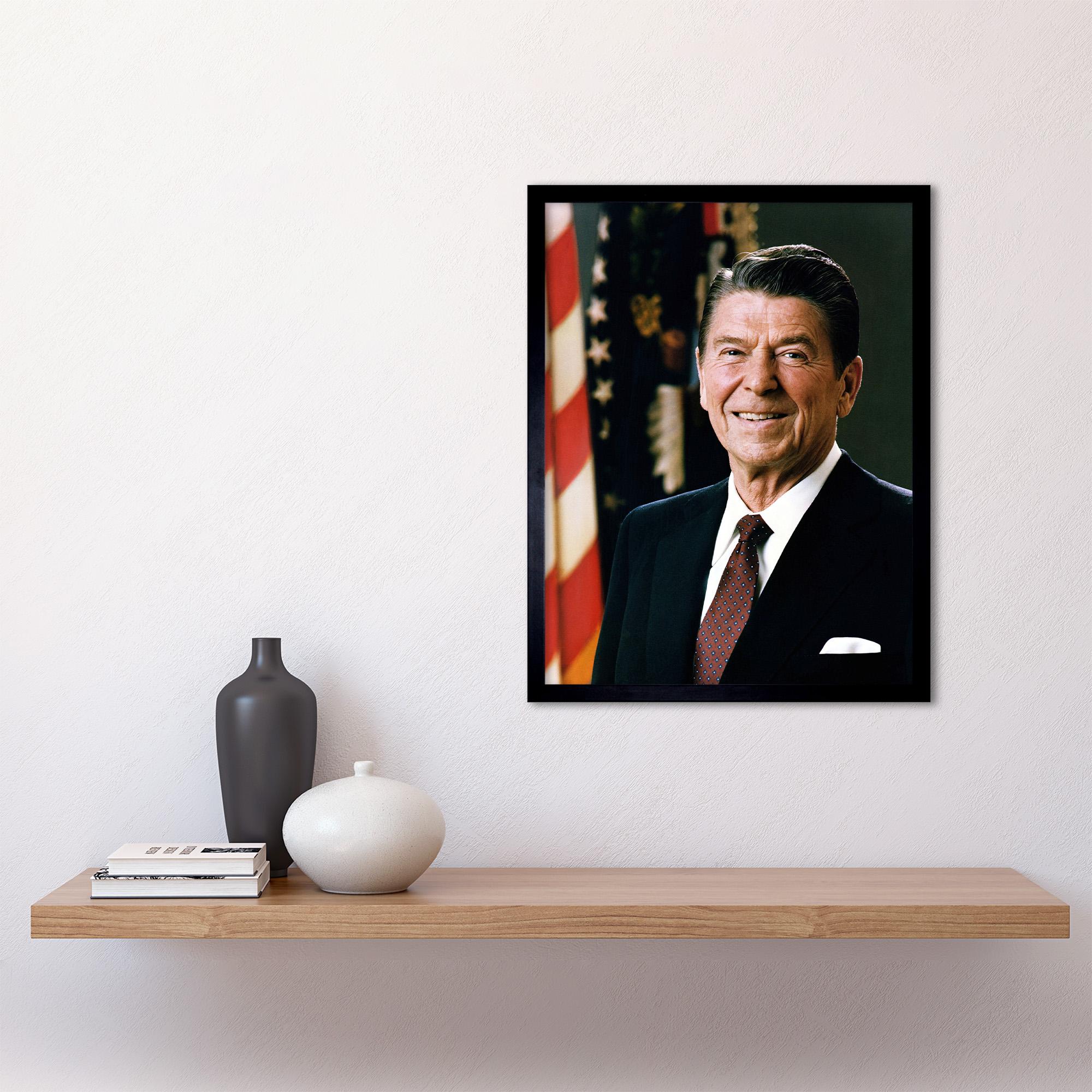 thumbnail 3 - Official-Portrait-US-President-Ronald-Reagan-Photo-Wall-Art-Print-Framed-12x16