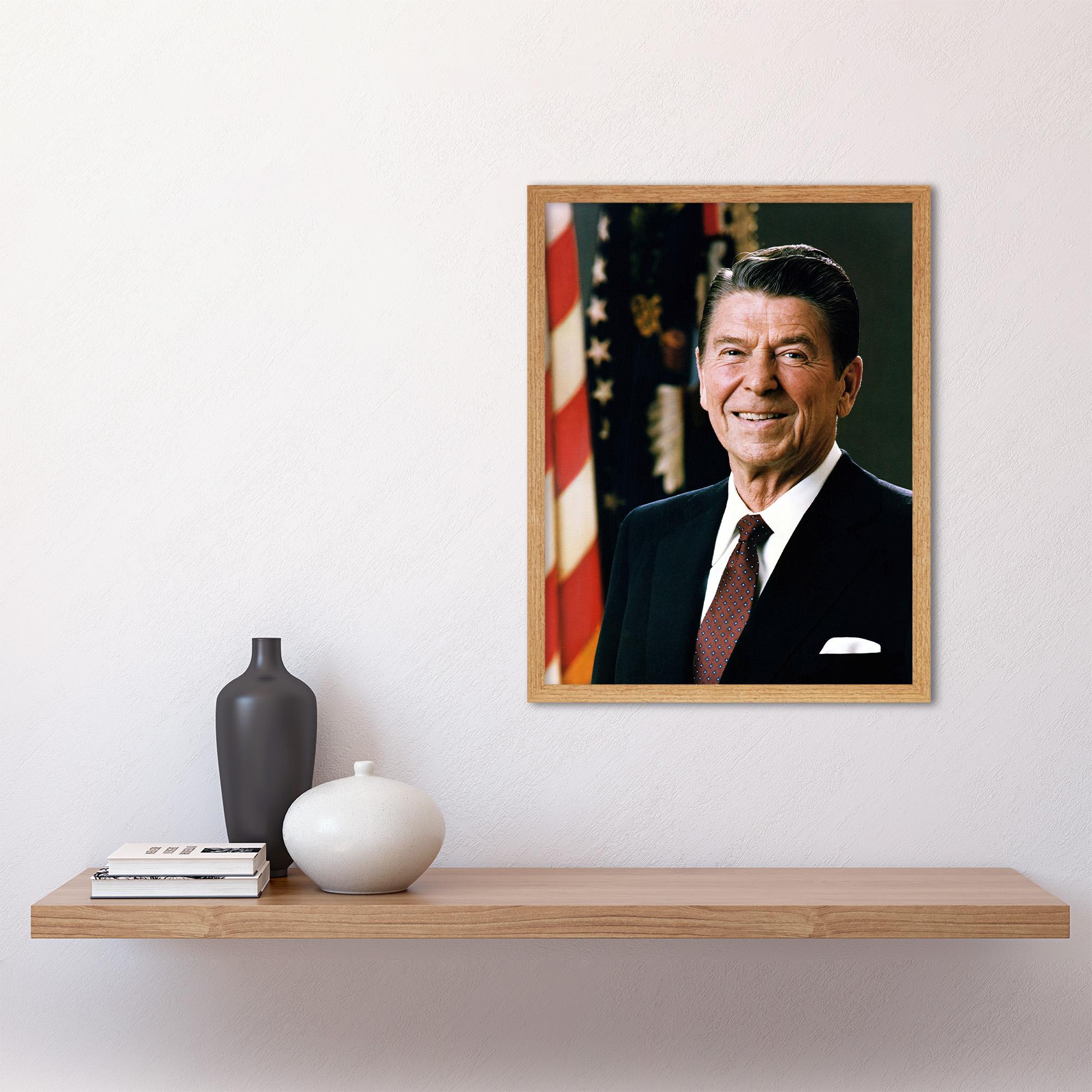 thumbnail 15 - Official-Portrait-US-President-Ronald-Reagan-Photo-Wall-Art-Print-Framed-12x16