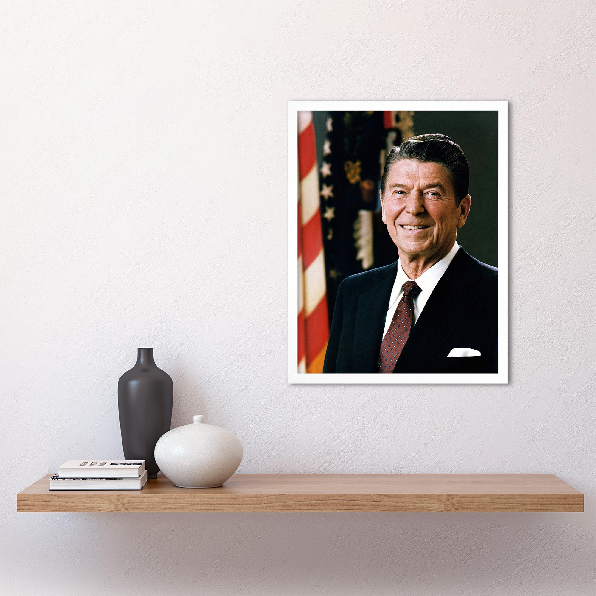 thumbnail 21 - Official-Portrait-US-President-Ronald-Reagan-Photo-Wall-Art-Print-Framed-12x16