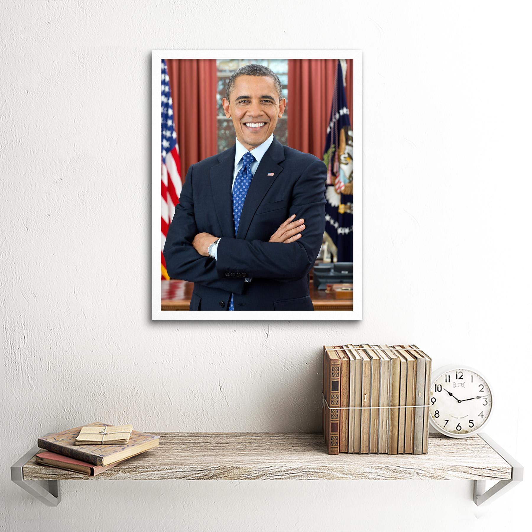 thumbnail 21 - Souza Portrait US President Barack Obama Photo Wall Art Print Framed 12x16