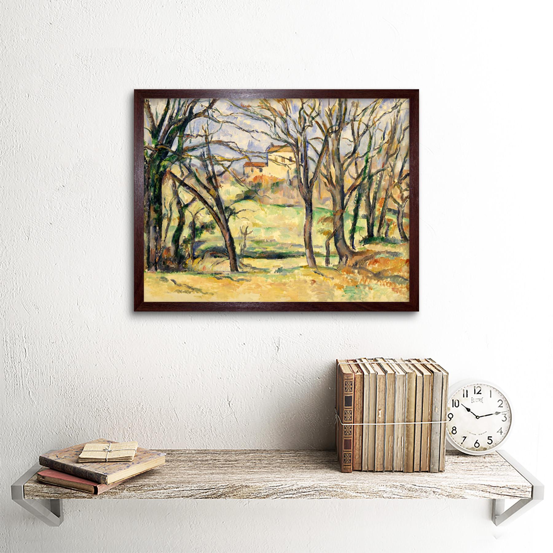 Cezanne-Trees-Houses-Near-Jas-De-Bouffan-Painting-Wall-Art-Print-Framed-12x16 miniatuur 9